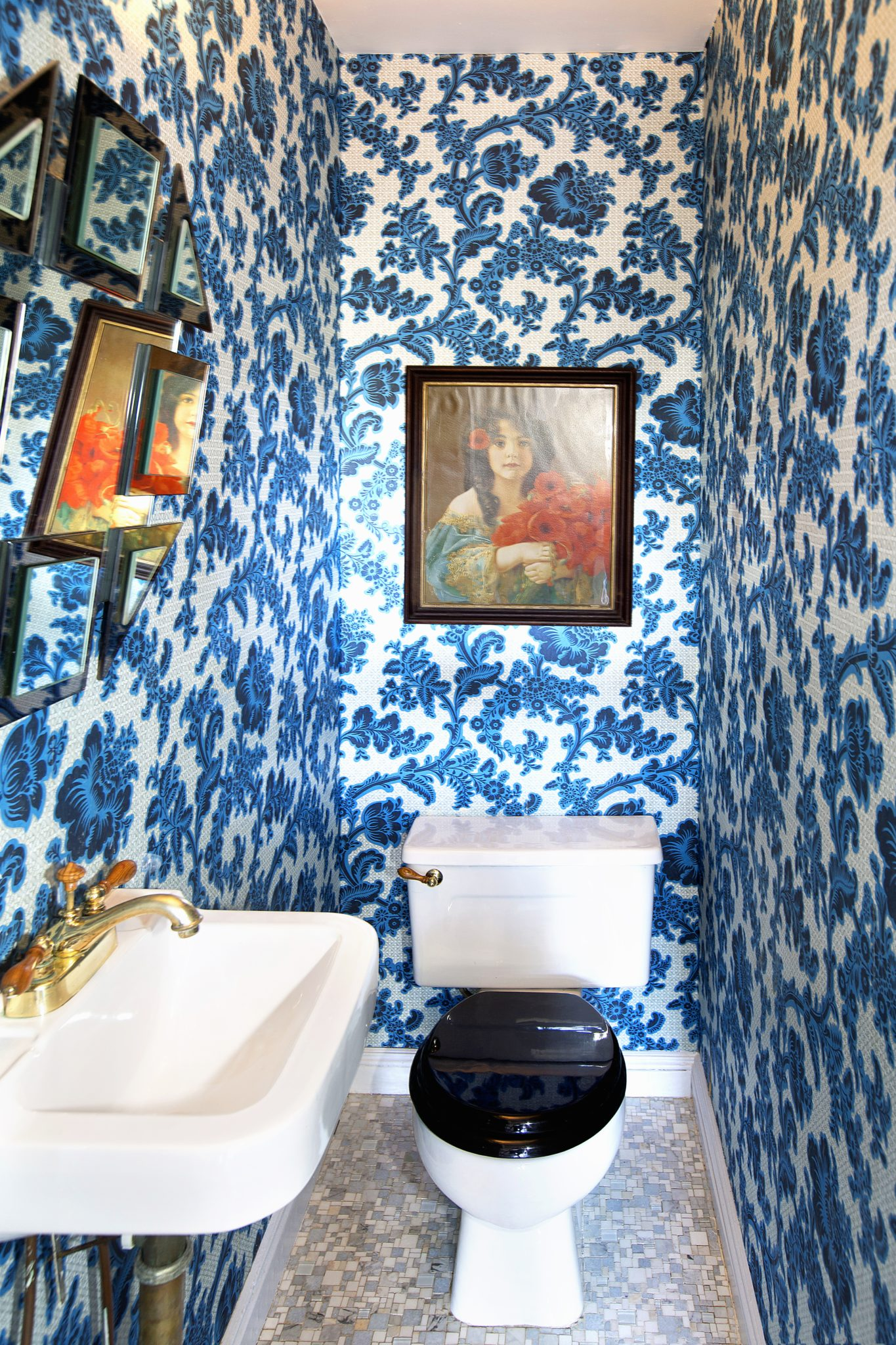 Brooklyn Townhouse, Powder Room by Fawn Galli Interiors