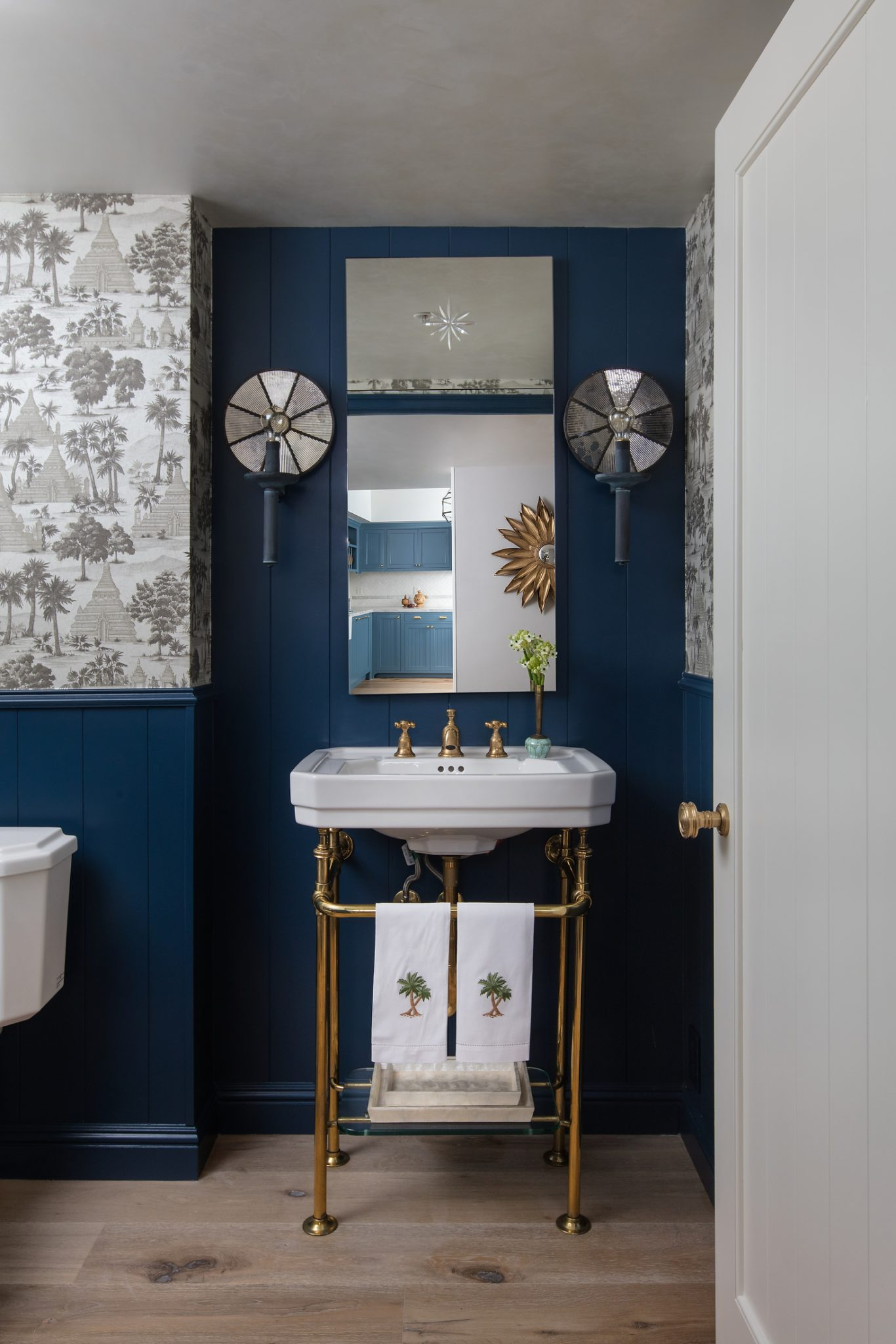Powder Room in Stiffkey Blue by Stefani Stein Inc.