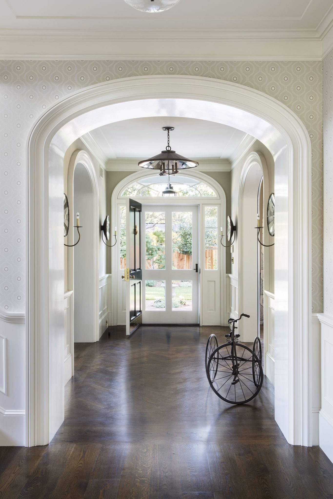 New Tennessee-Style Farmhouse Foyer by Tim Barber Ltd.