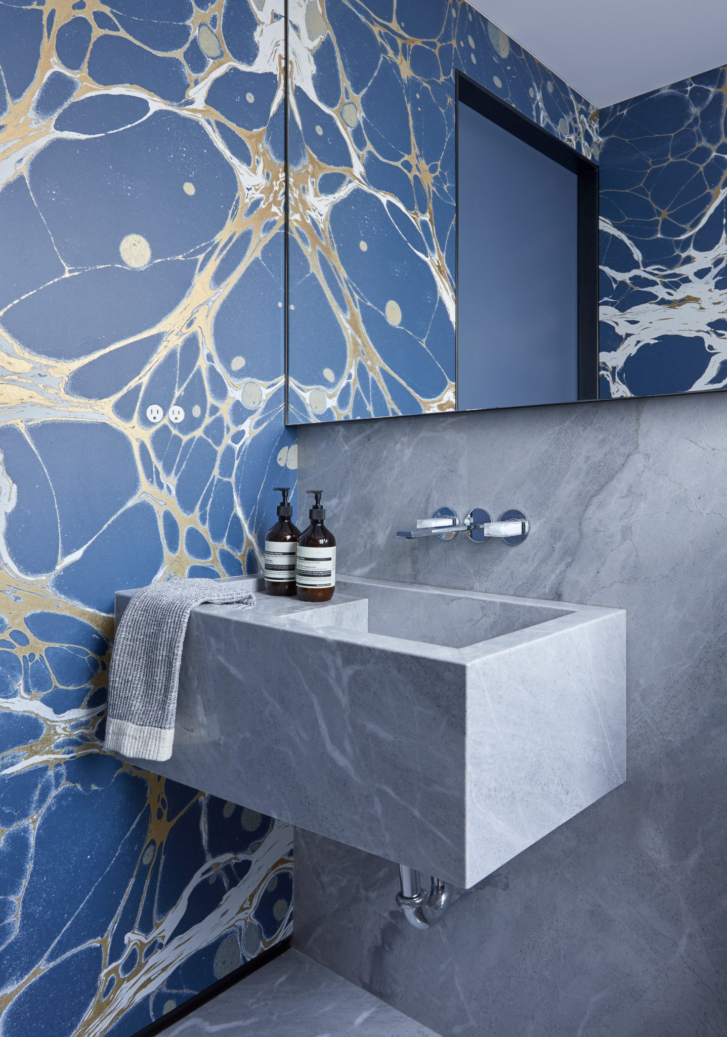 Upper East Side Powder Room, architecture by Anik Pearson Architects by Studio Riga