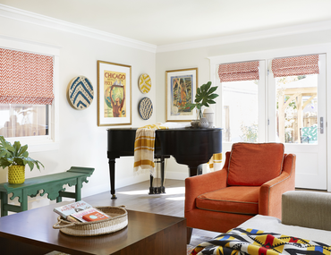 Chic Spaces with Vibrant Pops of Color