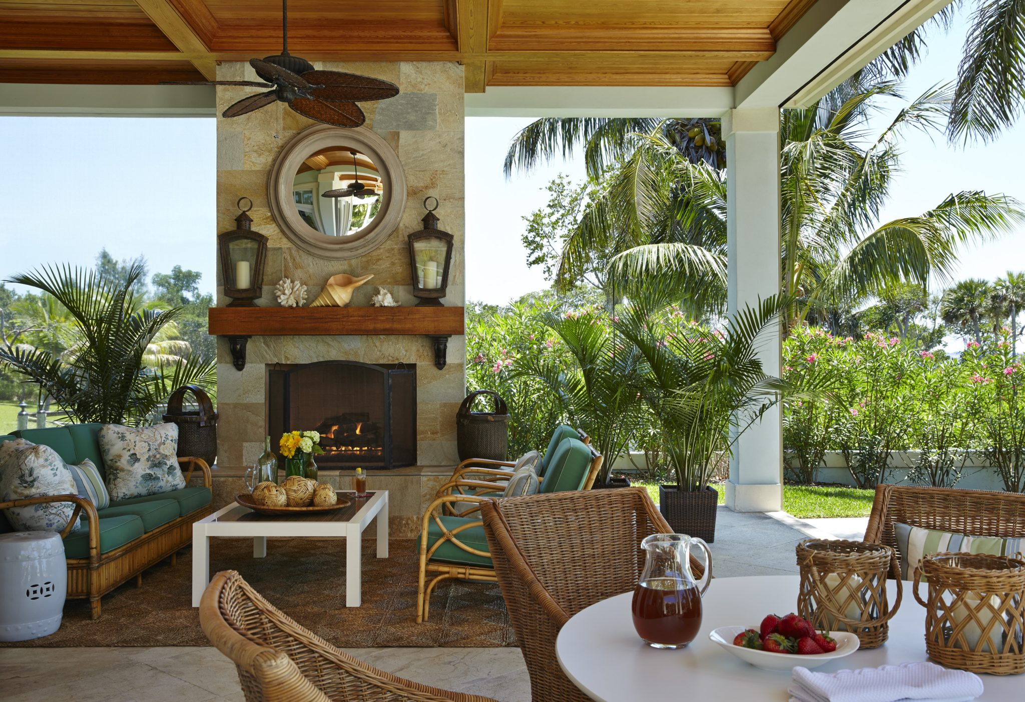 Florida Residence - Outdoor Room by Gary McBournie Inc.