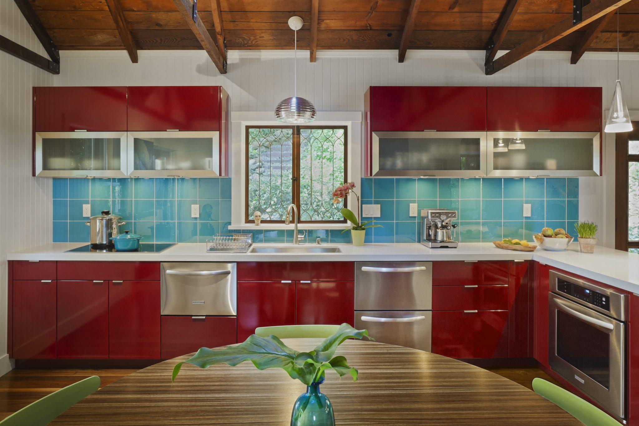 Redwood Escape Kitchen by Suzanne Childress Design