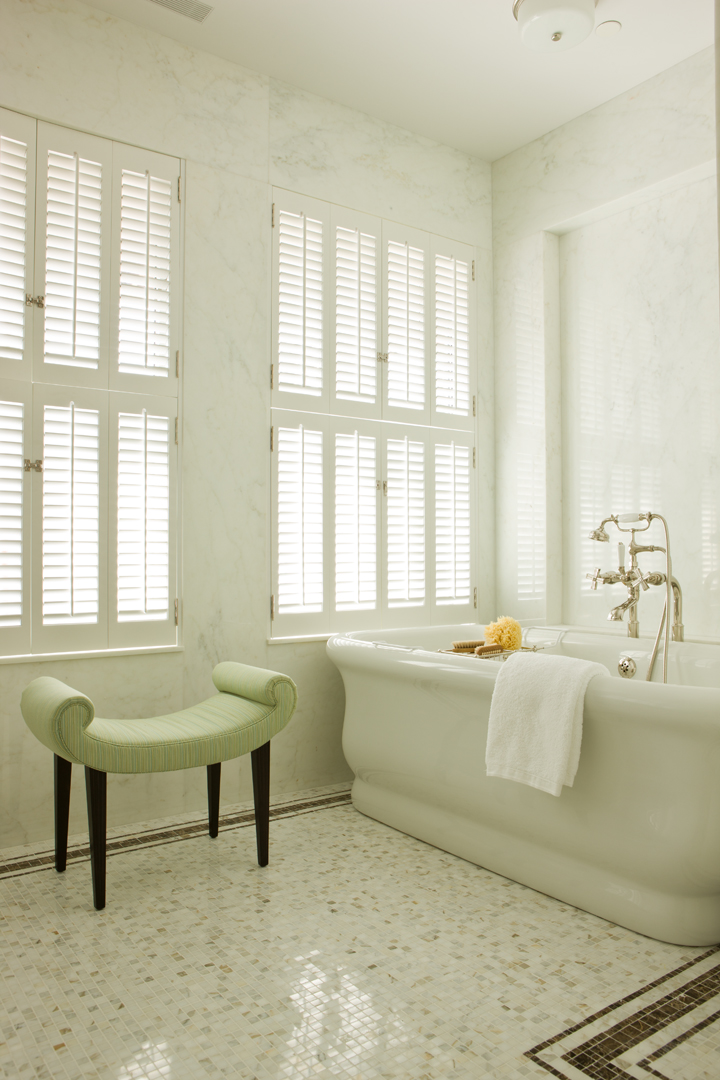 New York penthouse - master bathroom by Gary McBournie Inc.