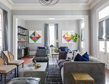 Chic, Modernist Family Rooms
