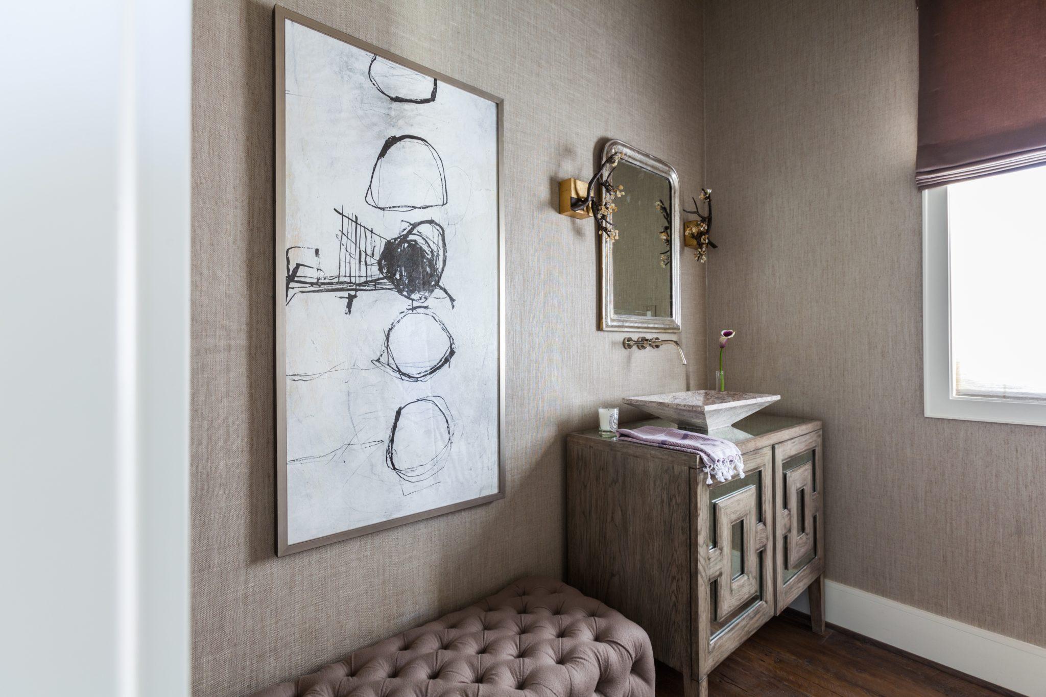 Eclectic bathroom by Chandos Interiors