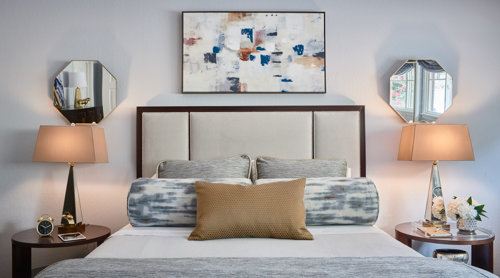 San Carlos Transitional Bedroom by Sabrina Alfin Interiors