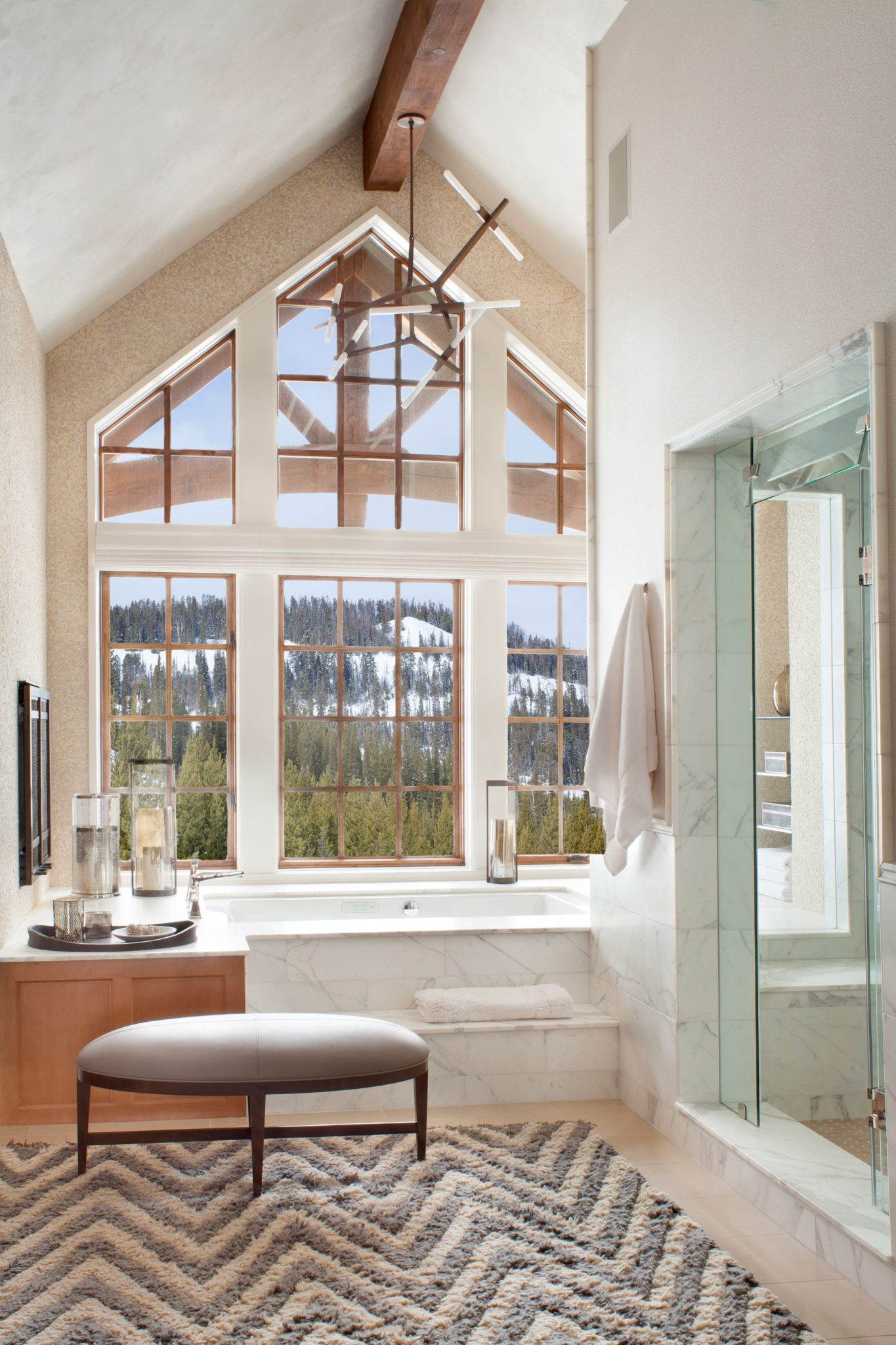 American Spirit Residence - Yellowstone Club, MT - bathroom by LKID