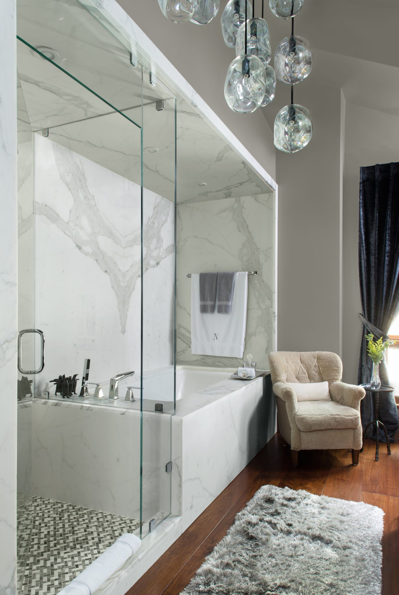 Elegant and sophisticated bathroom - Beaver Creek, CO, by Slifer Designs