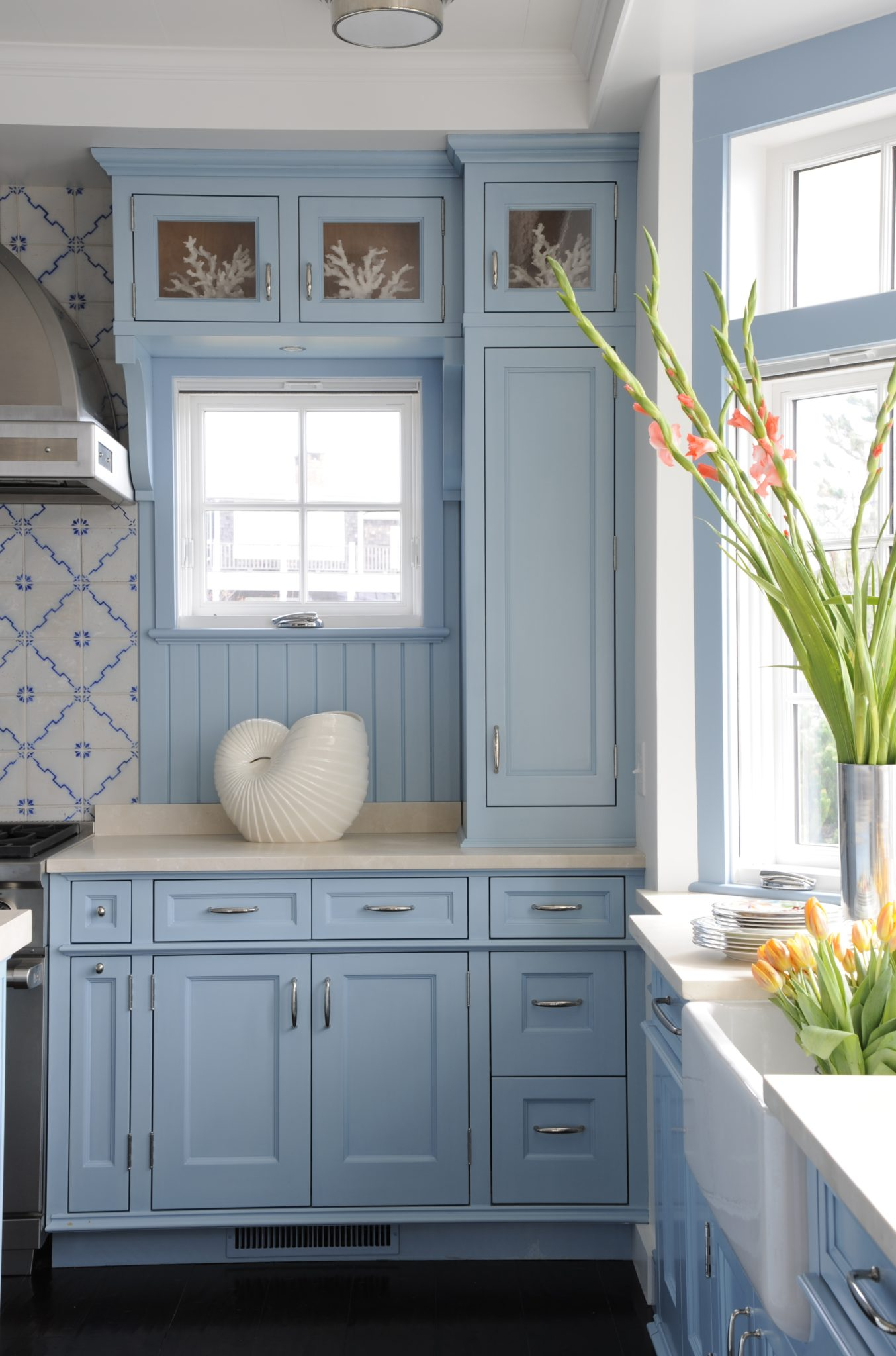 Beach-inspired blue kitchenby Sarah Blank Design Studio