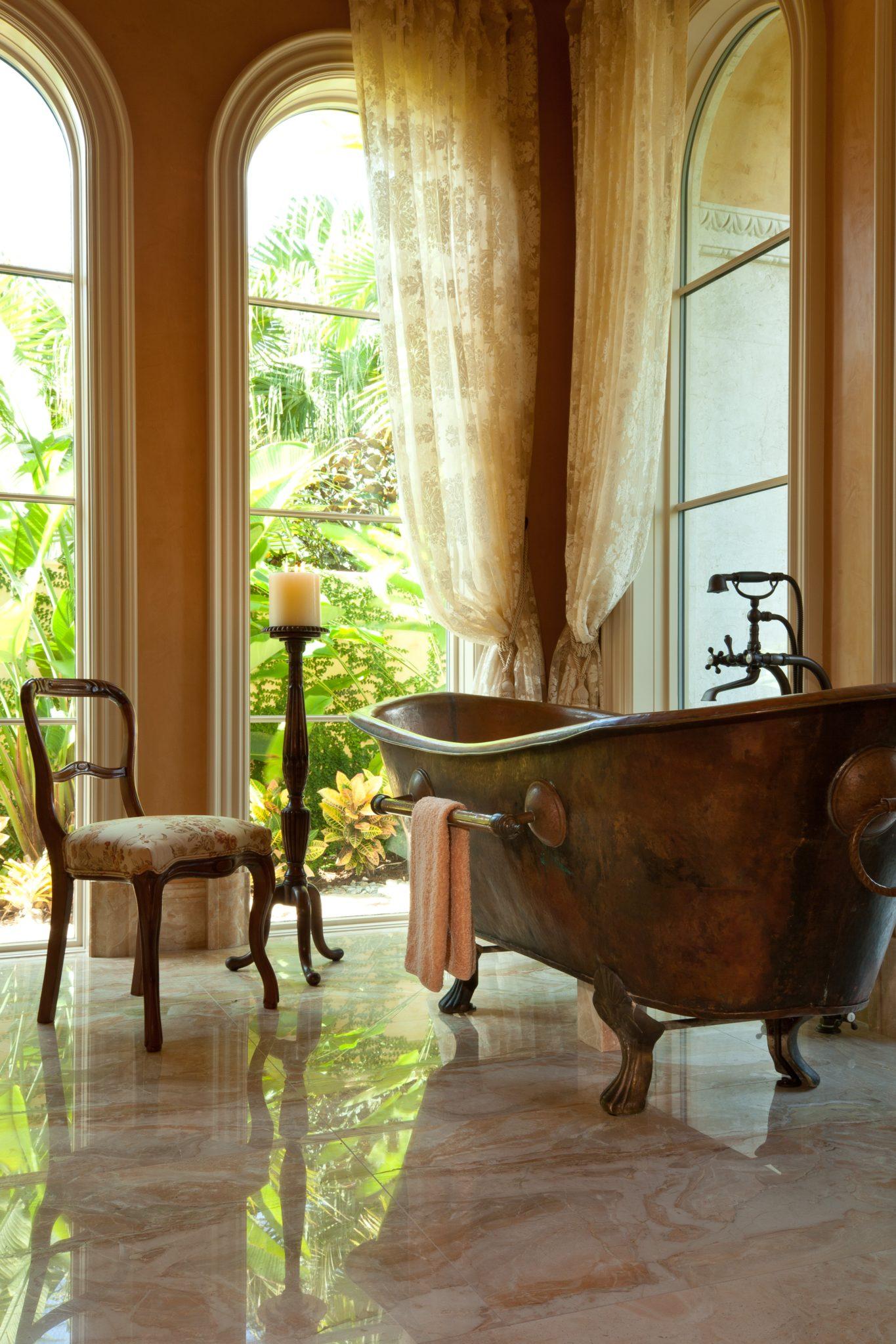 An elegant bath retreat by Douglas Design Studio