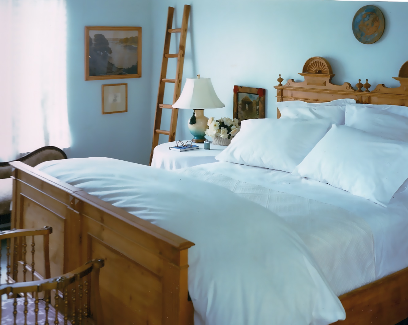 A Guest Bedroom in a Connecticut Country House by Elizabeth Hagins Interior Design