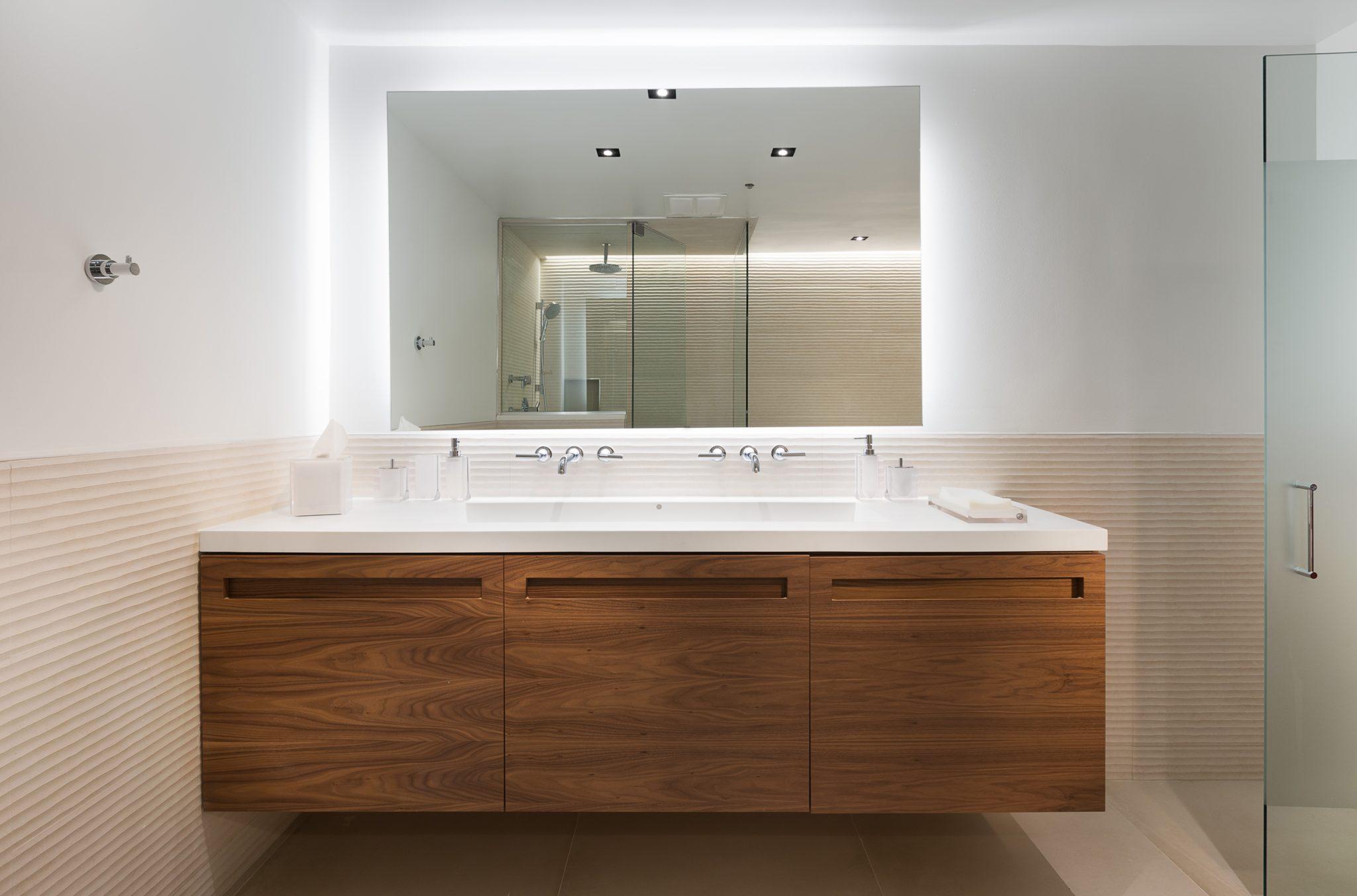 Chicago West Loop Loft Master Bathroom by JOLIE ID