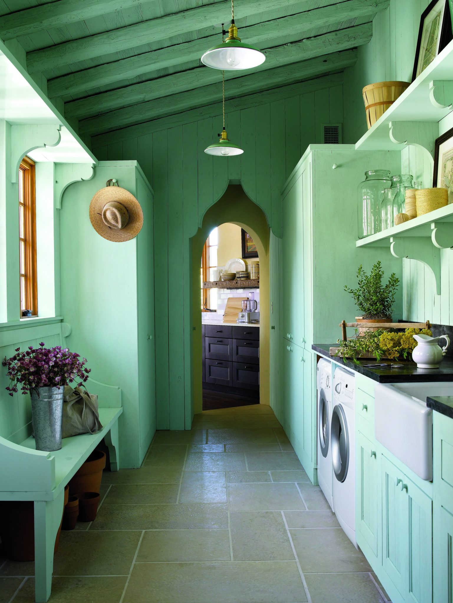 Laundry Room at the Southern Living Idea House by Michael G. Imber, Architects
