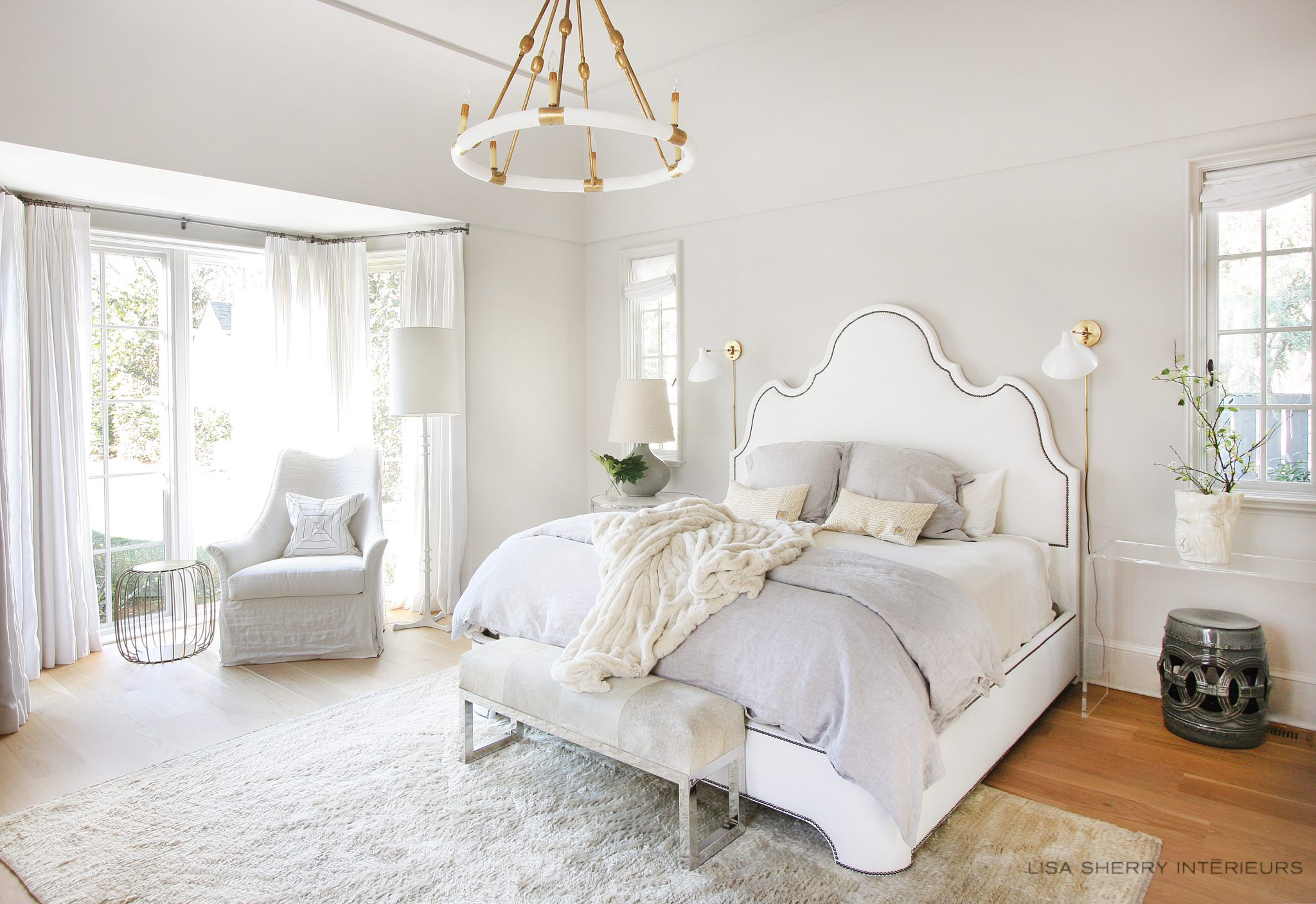 Classic Modern Master Bedroom by Lisa Sherry Interieurs