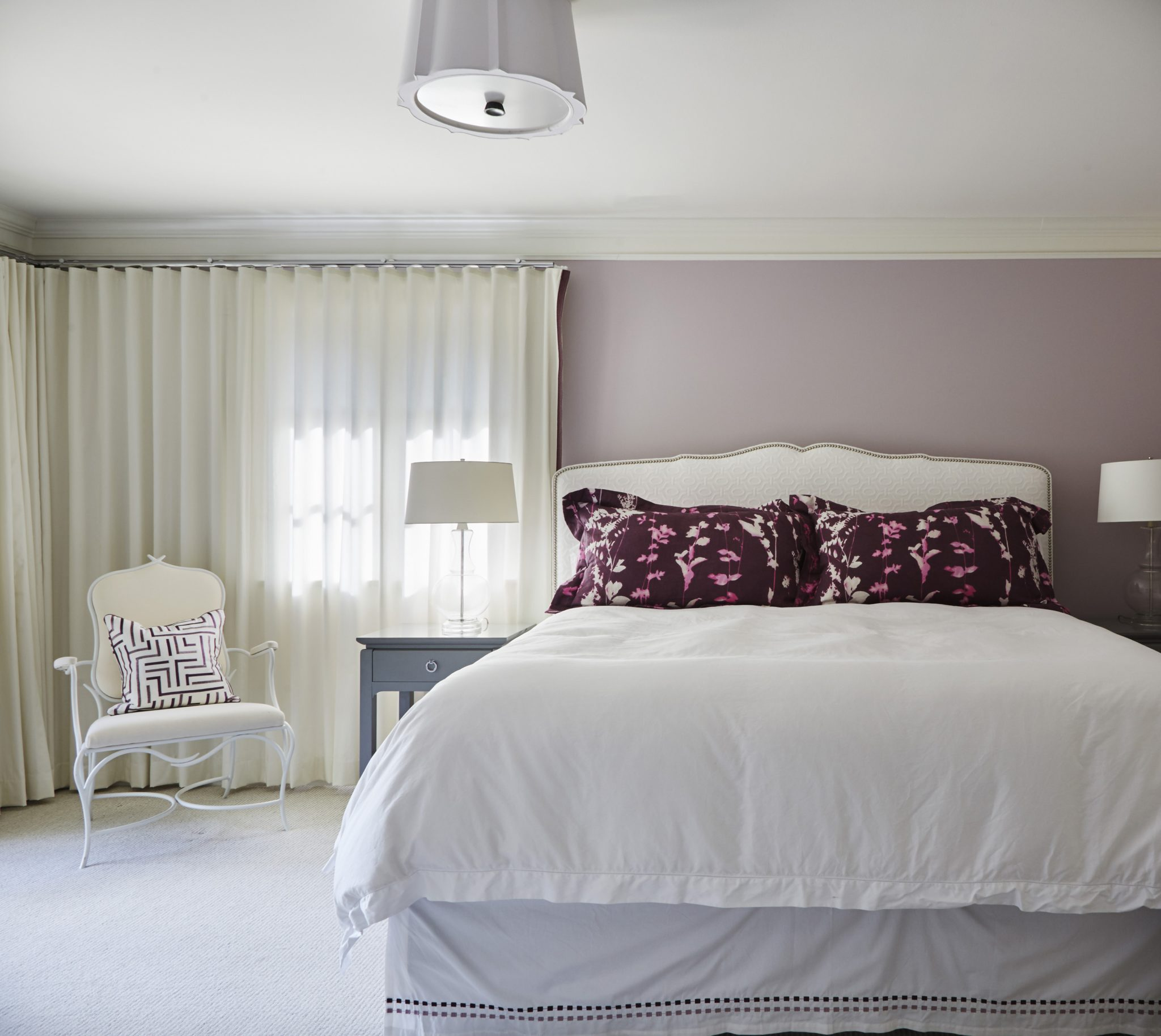 Purple is incorporated into the pillow shams by Morgante-Wilson