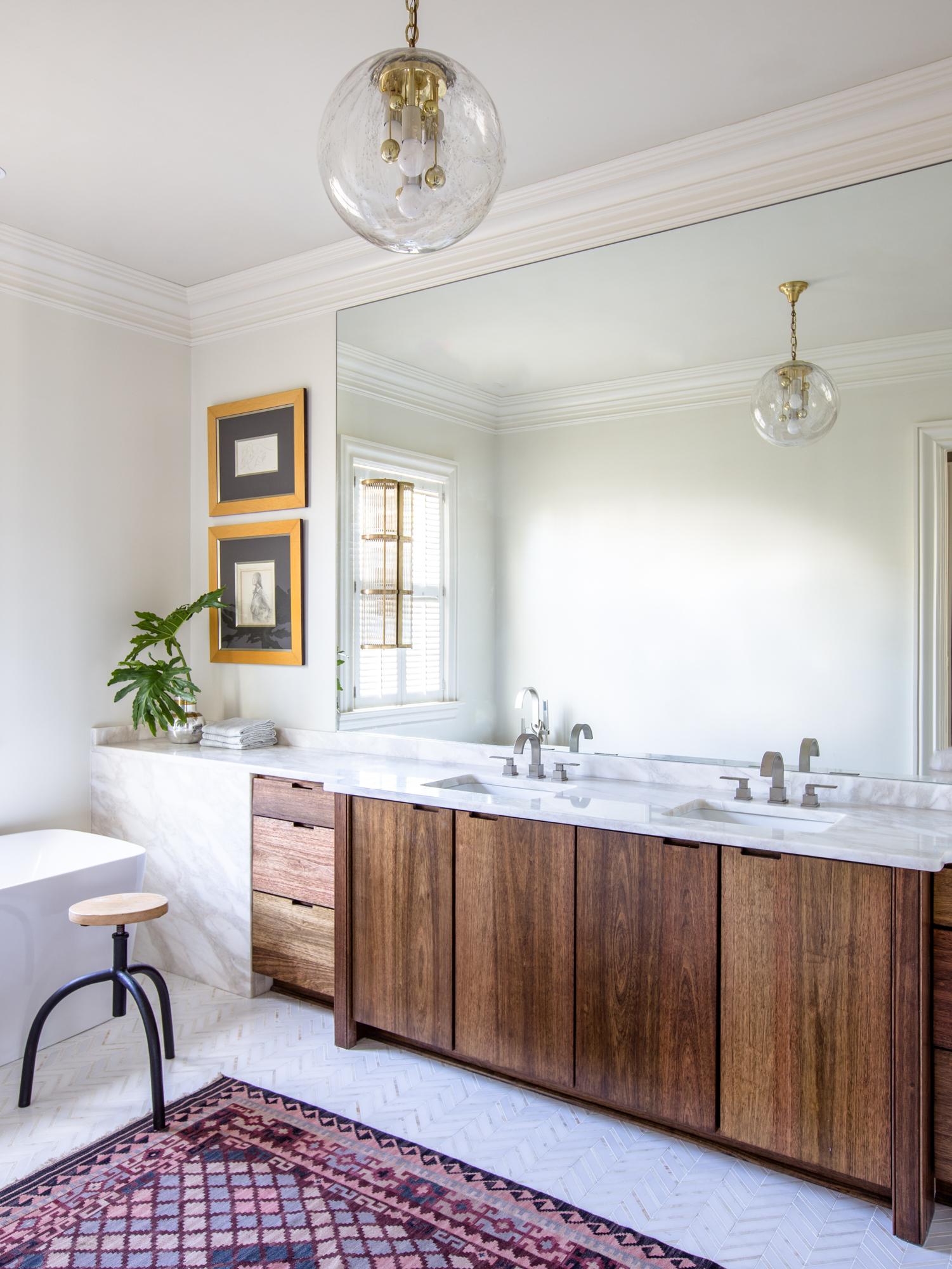 Uptown Master Bathroom by Logan Killen Interiors