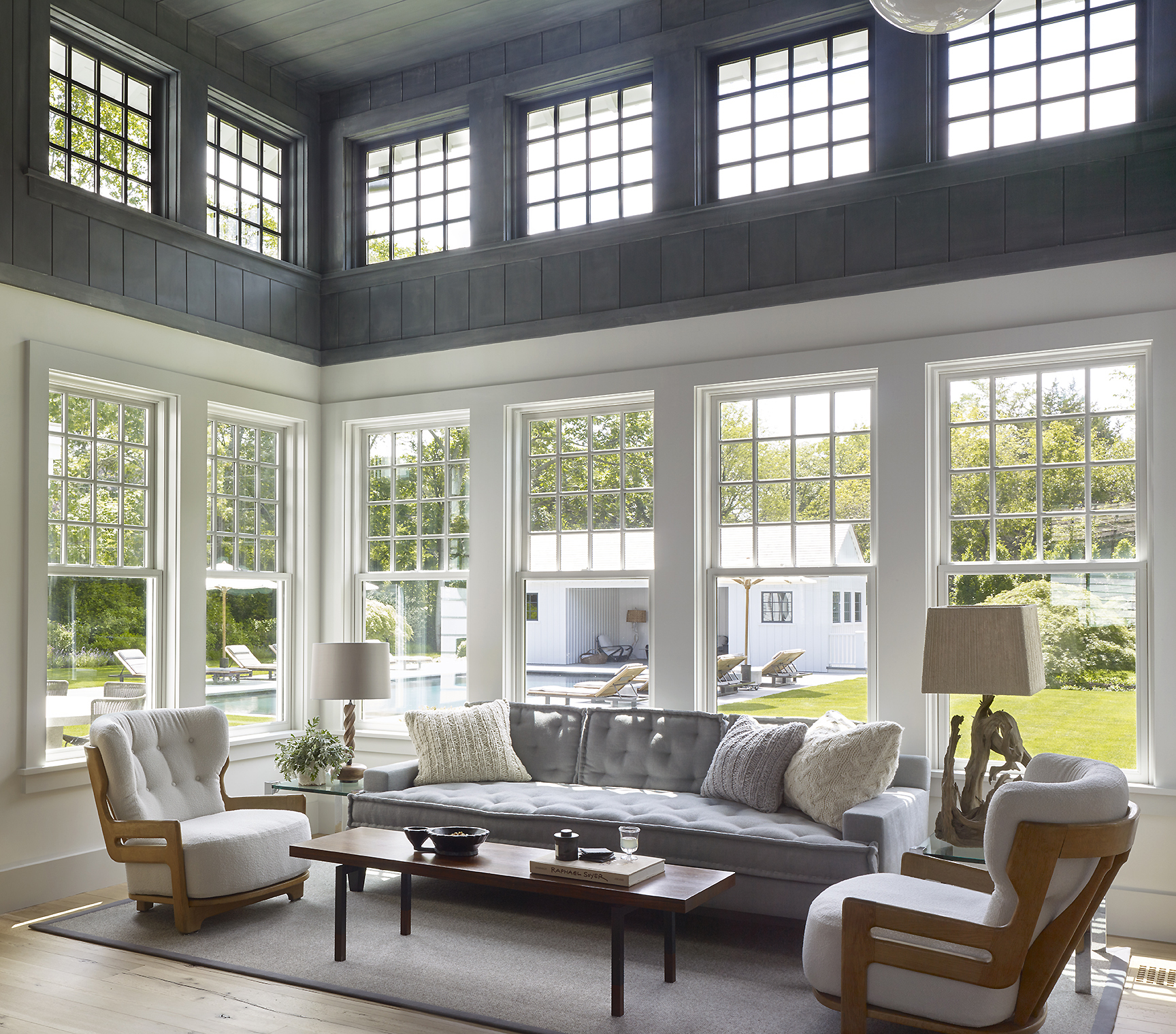 East Hampton family room by Dan Scotti Design