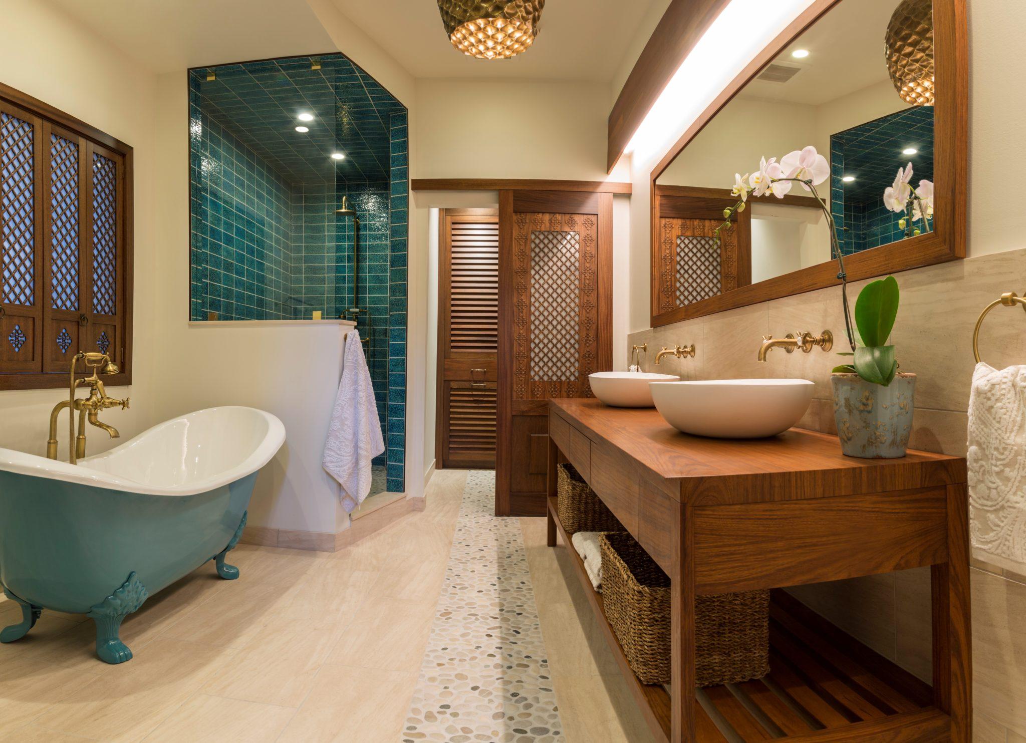 Island Master Bath Tile by Mia Rao Design