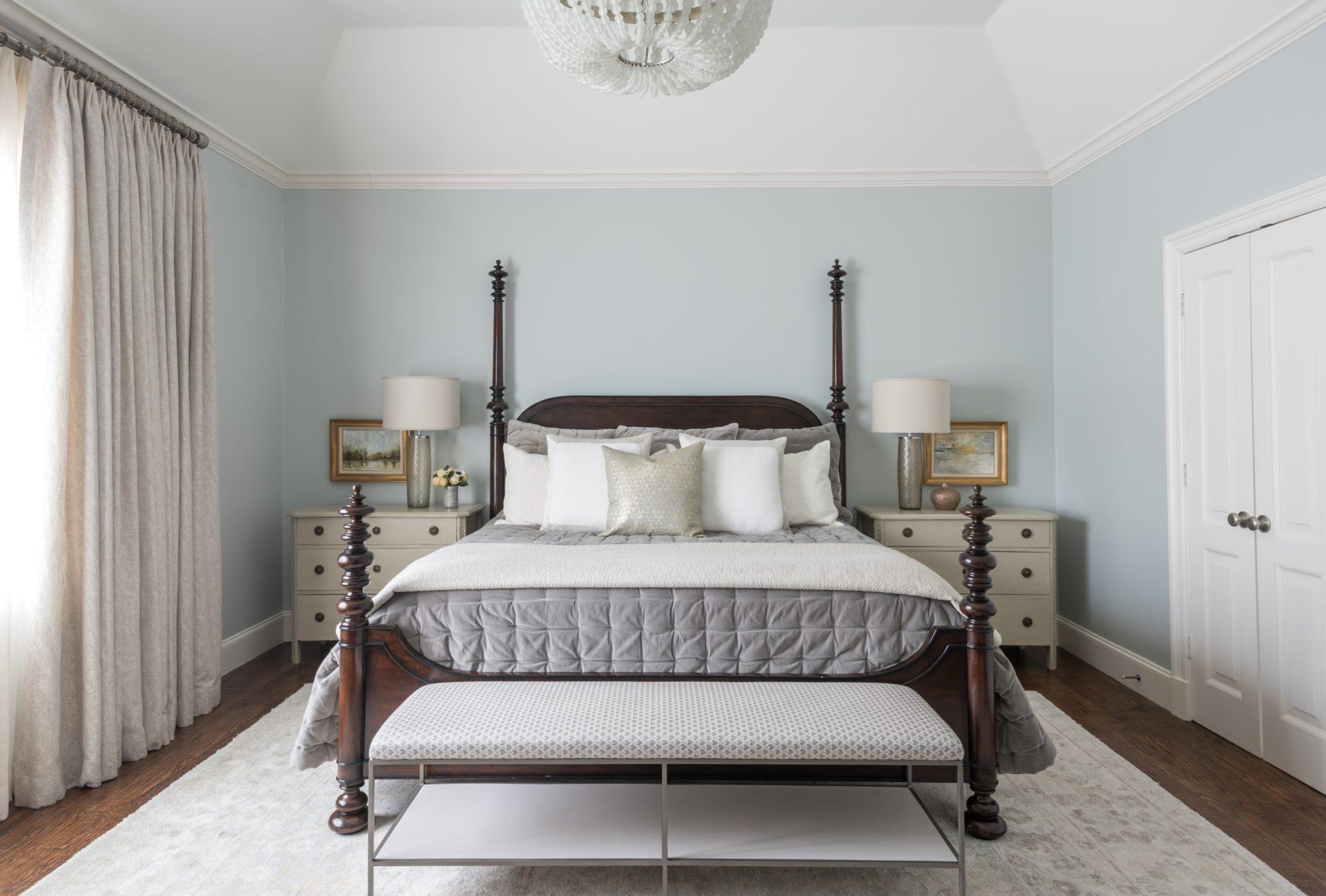 Stanford Avenue - Master Bedroom by Allison Seidler Interiors
