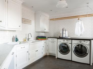 Stylish Tiled Laundry Rooms