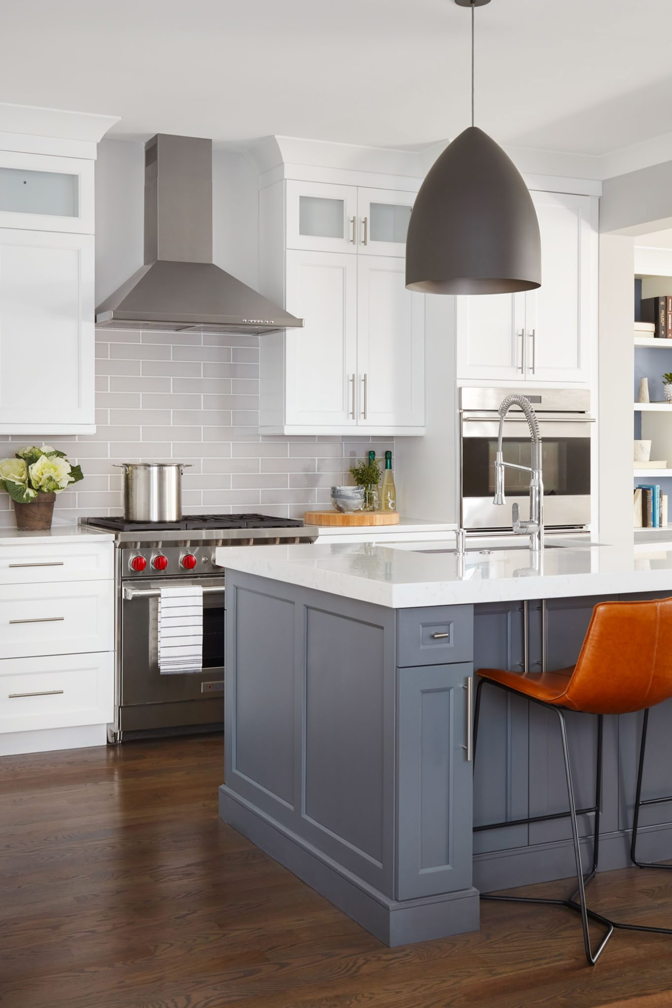 Lincoln Park greystone chef's kitchen by Centered by Design