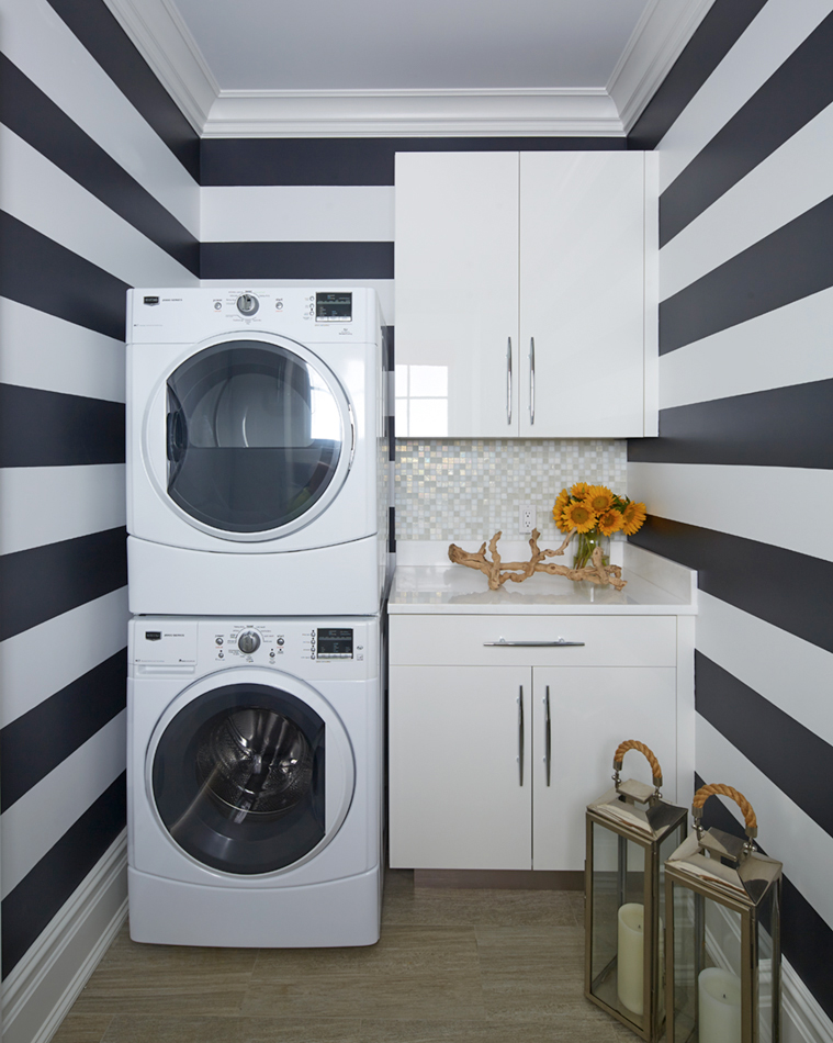 Inside of Laundry Room by Lynne Scalo Design