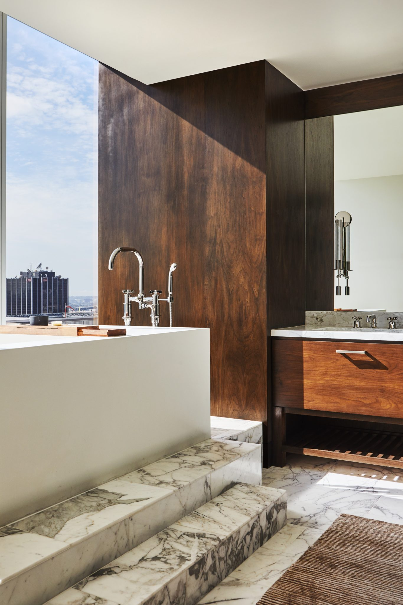 Industrial Chic, Luxury Penthouse - The Vista Residence - Hollywood, California by SFA Design