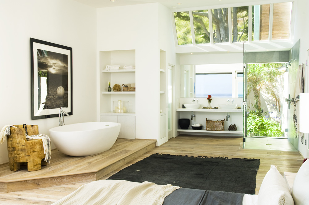 Malibu Cove: A Sun-Drenched Master Bedroom is a Must in a Beach House by Alexander Design