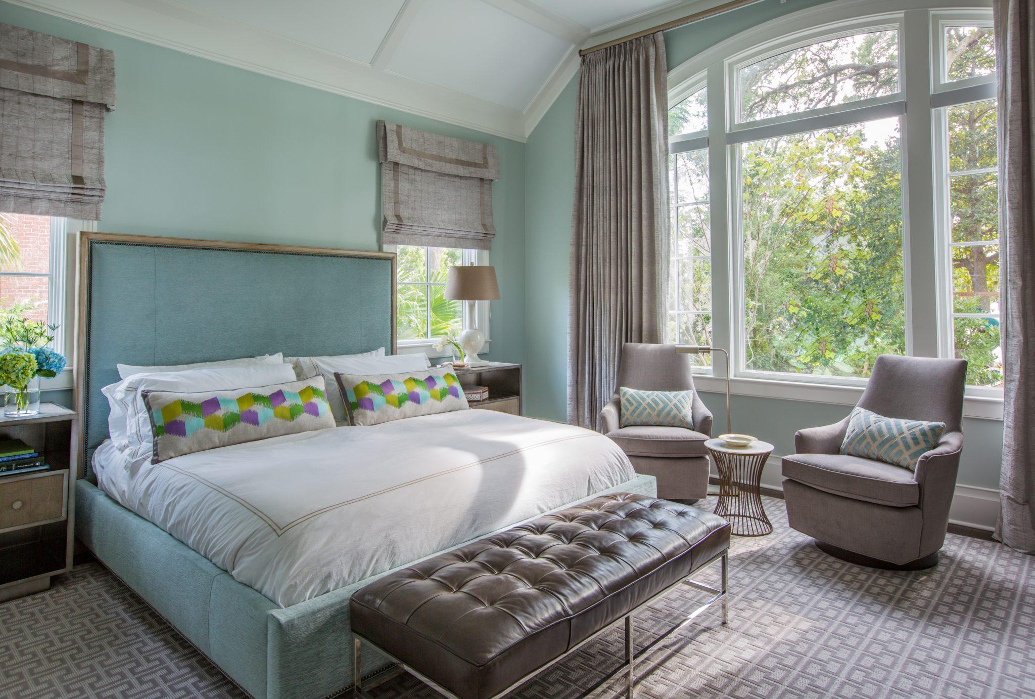 Master Bedroom of Shingle-Style Property by Jaycox Architects & Associates