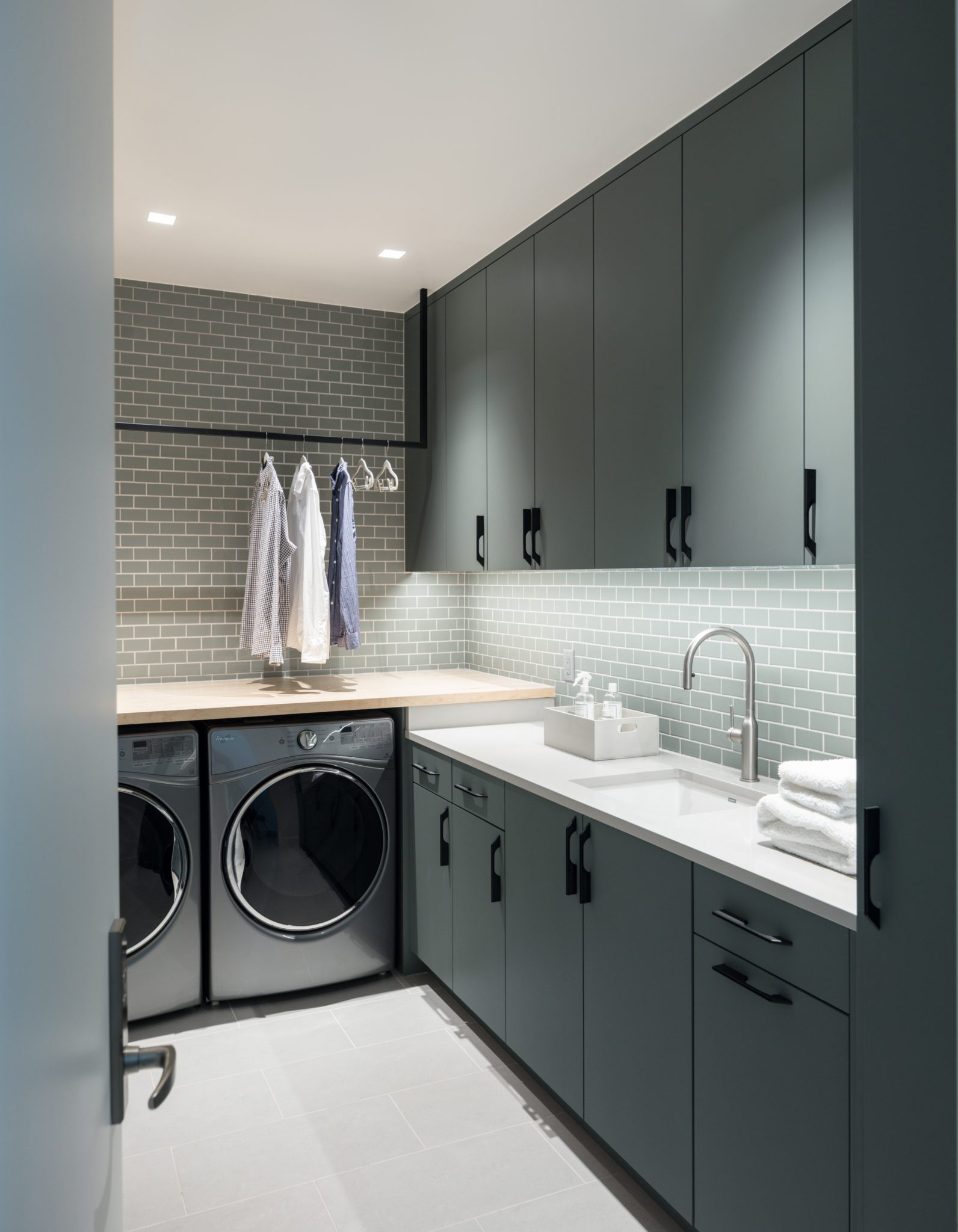 A Modern Homestead in Colorado, Laundry Room by Duet Design Group