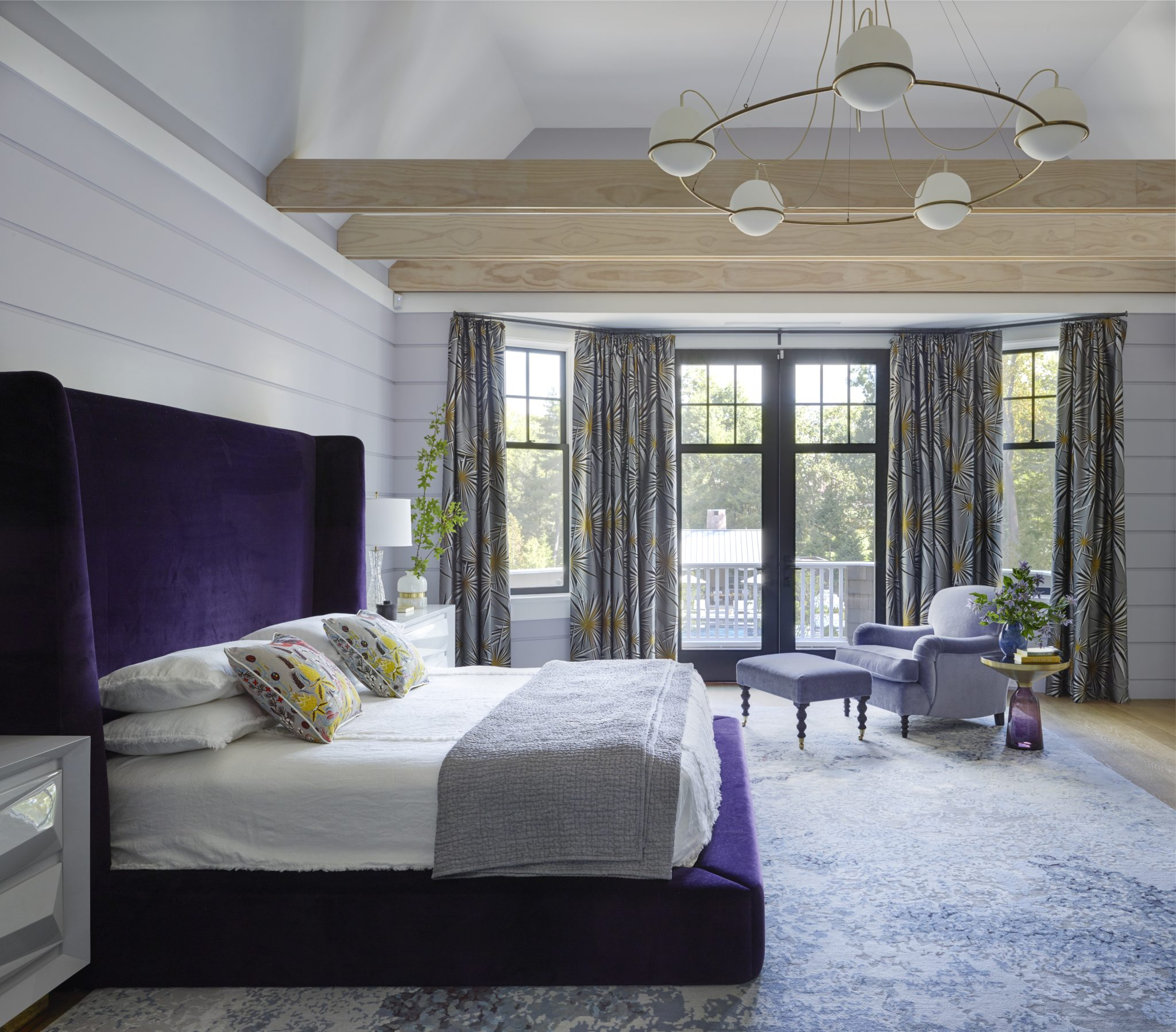 Architectural New Jersey Home, Master Bedroom by Fawn Galli Interiors