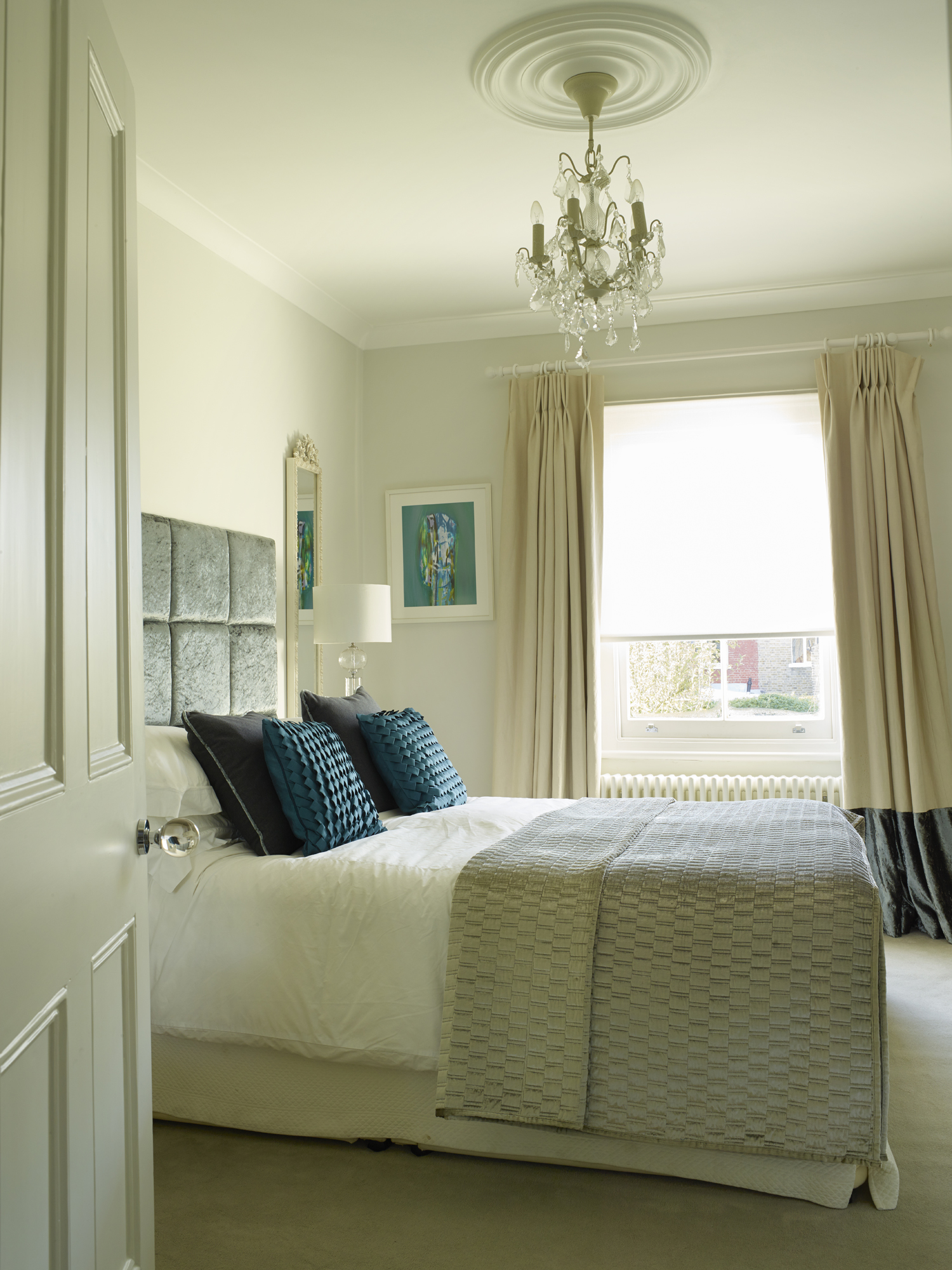 Bedroom, Crouch End, London, master bed, by Caz Myers