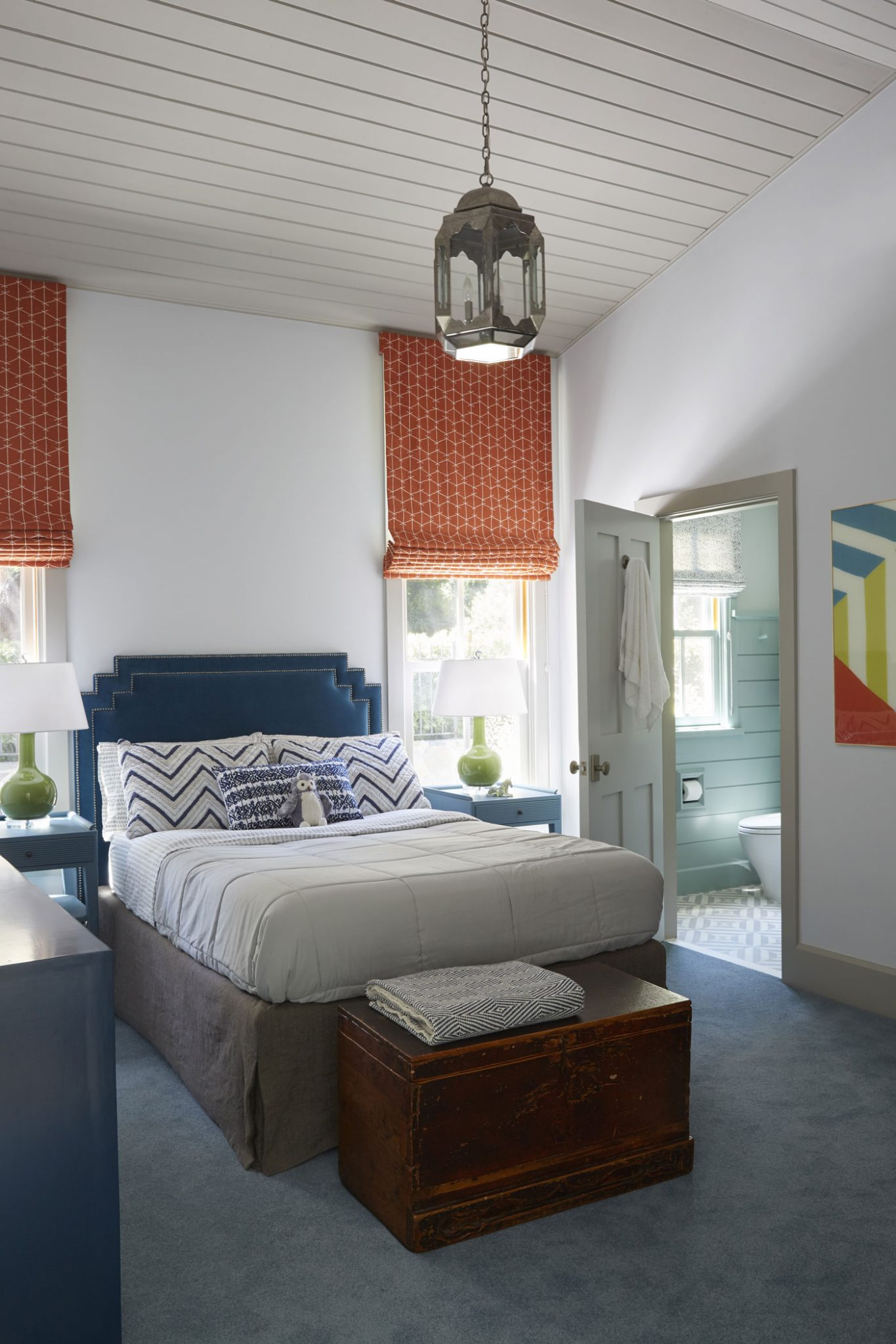 Boy's Bedroom in a Ranch House Renovation by Tim Barber Ltd.