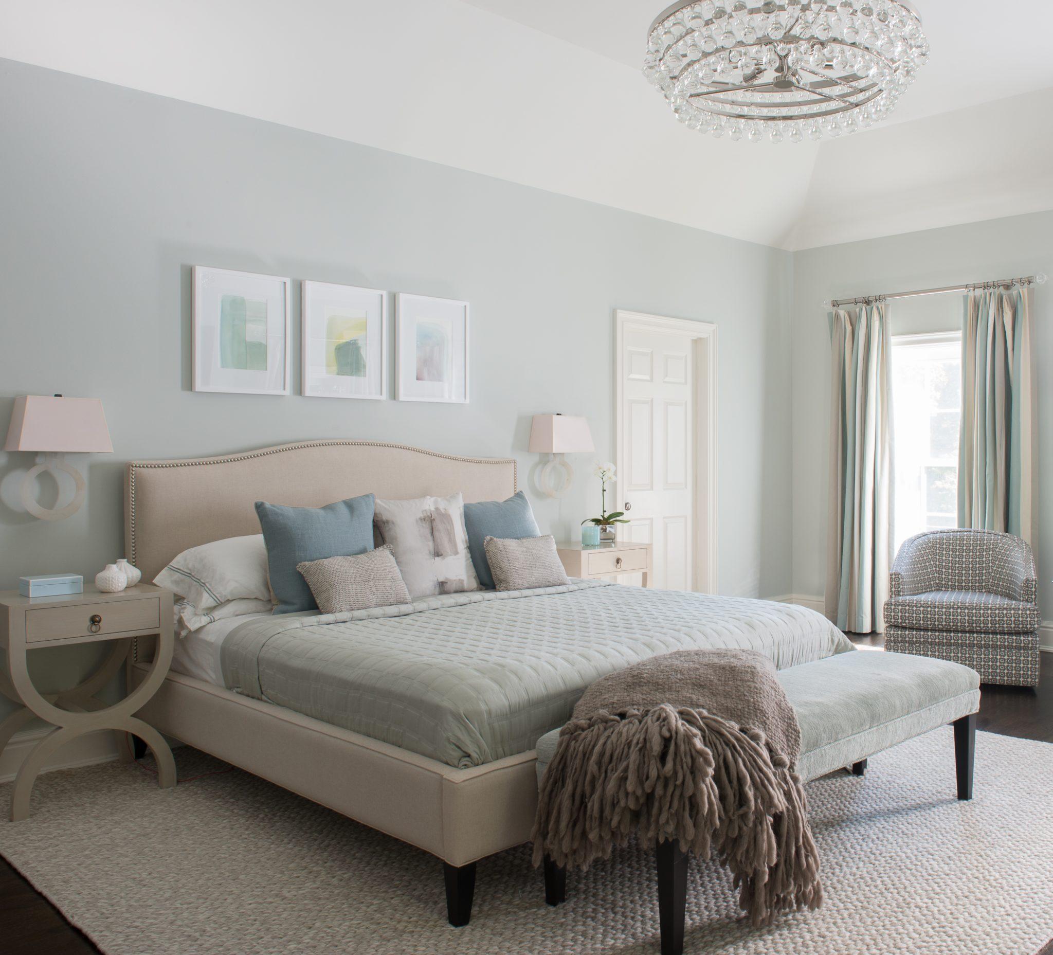 Pastel Bedroom by Jill Kalman Interiors