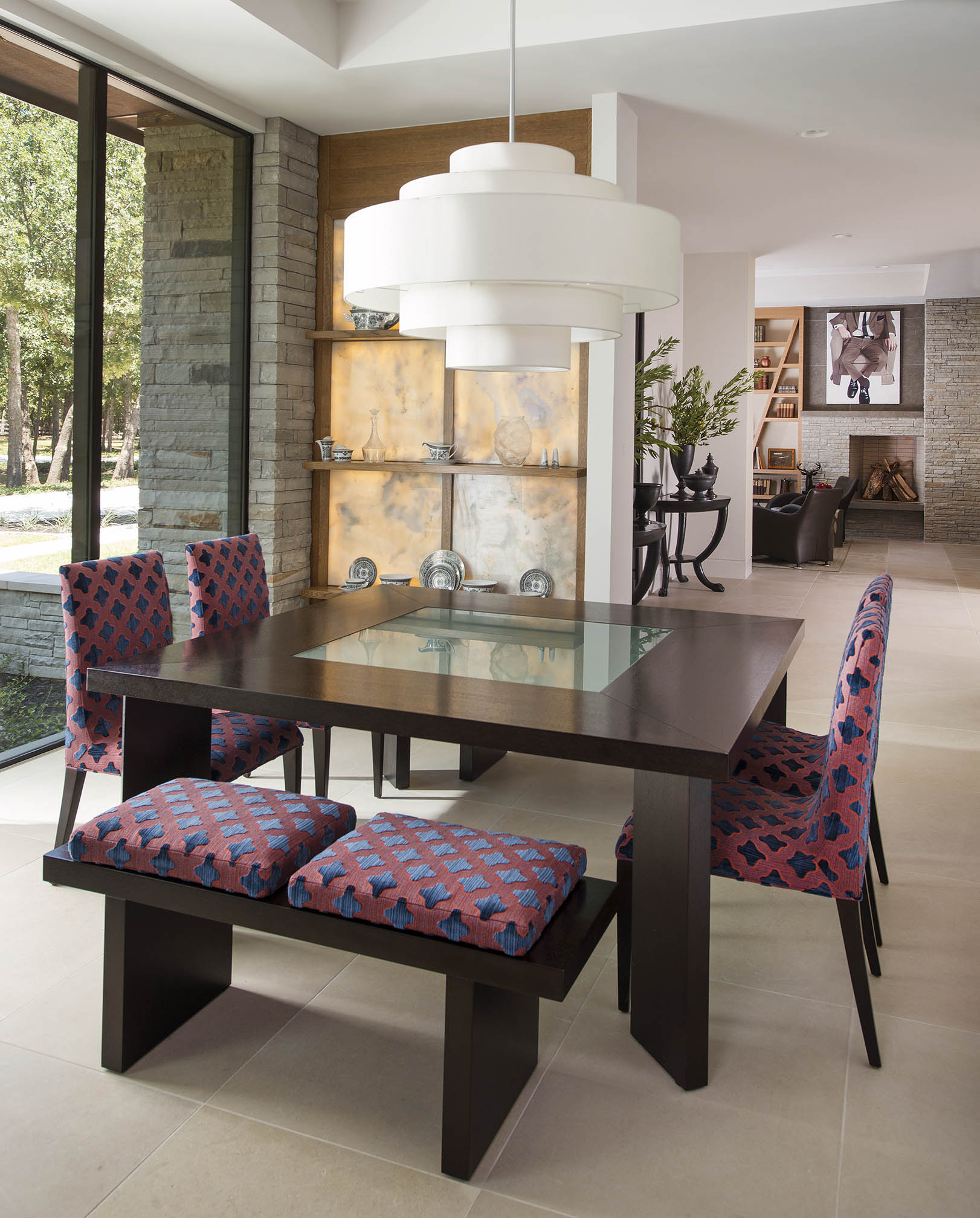 Modern family dining room by Denise McGaha Interiors