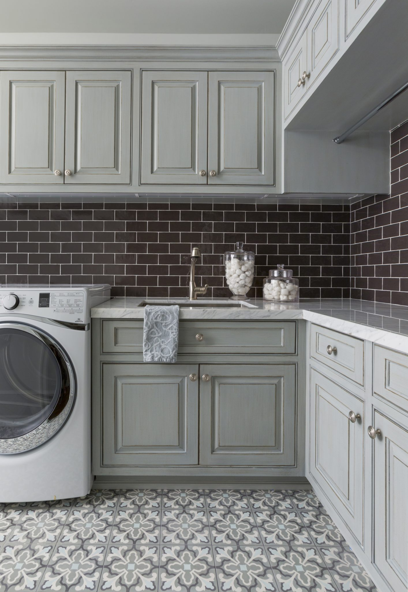 Playful Laundry Room by Lucas Eilers Design Associates, LLP