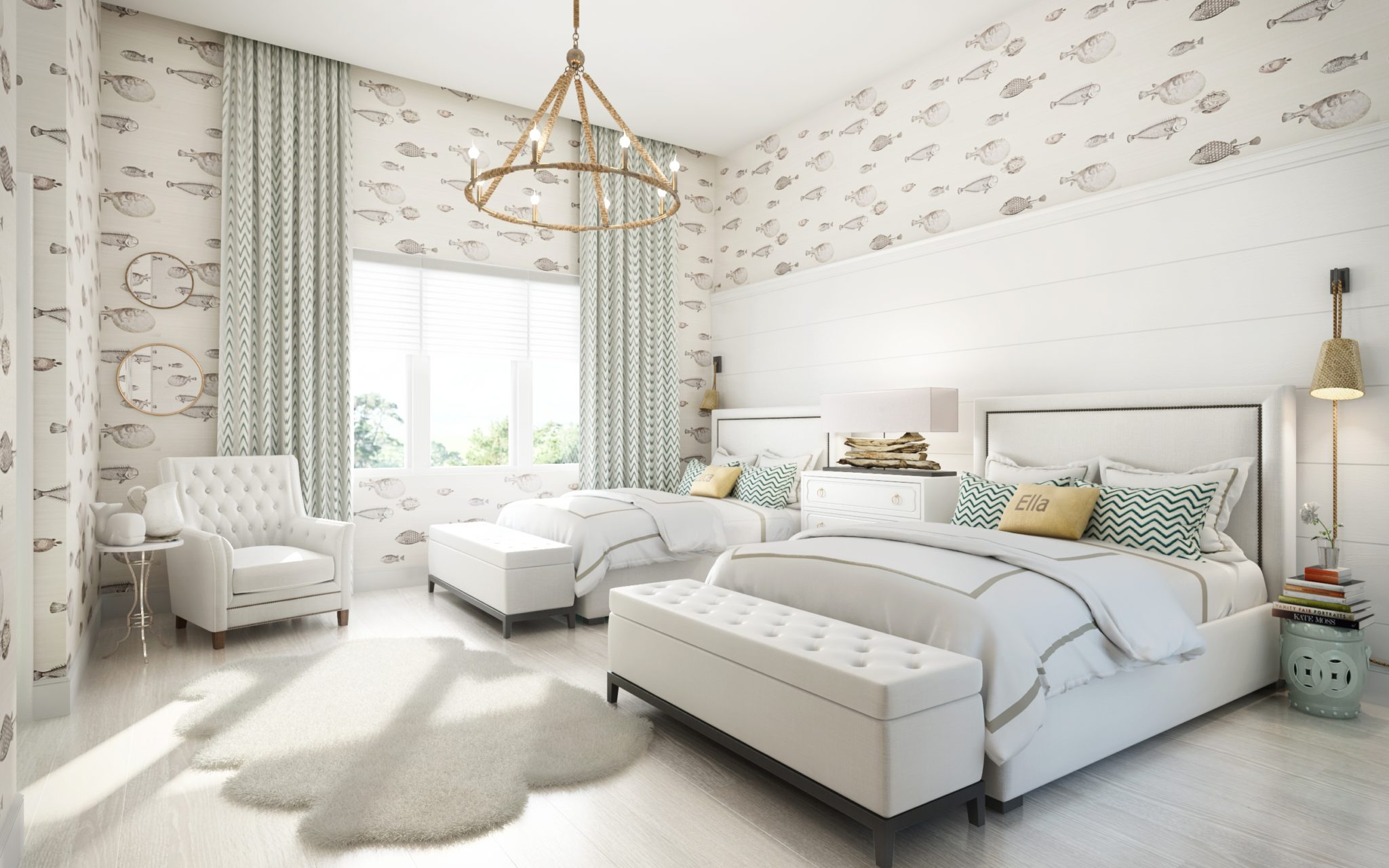 Naples, Florida Residence | Kid's Room by Kathy Kuo Designs