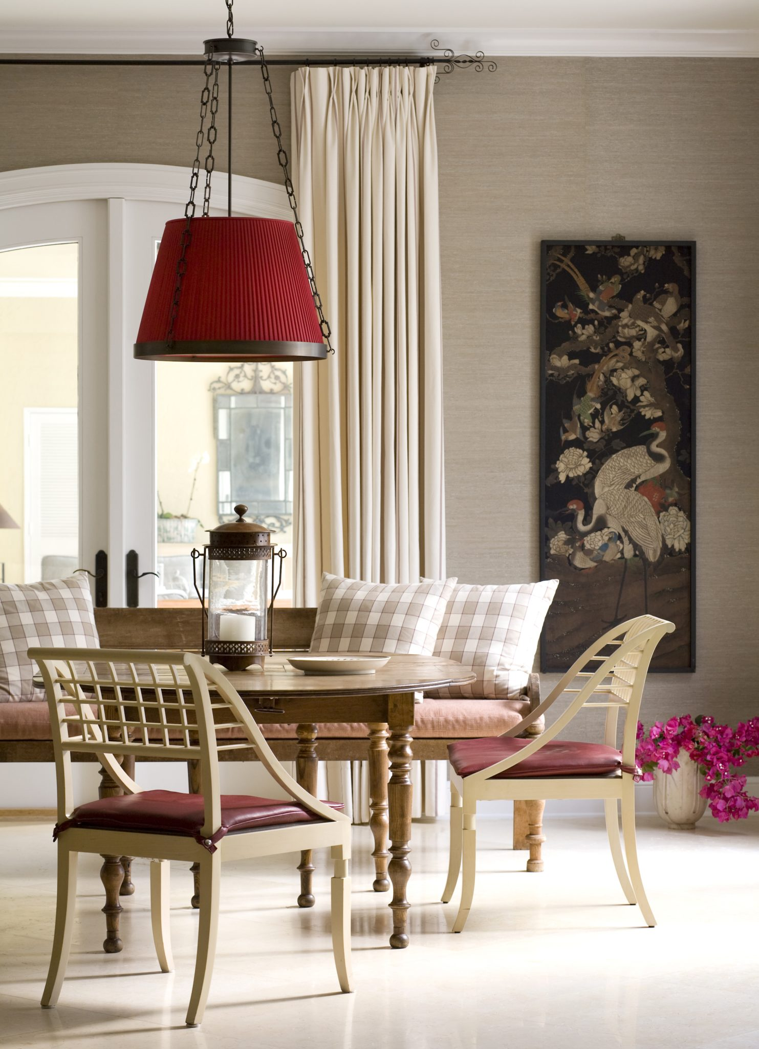 West Palm Beach family dining room by Anthony Cochran Design