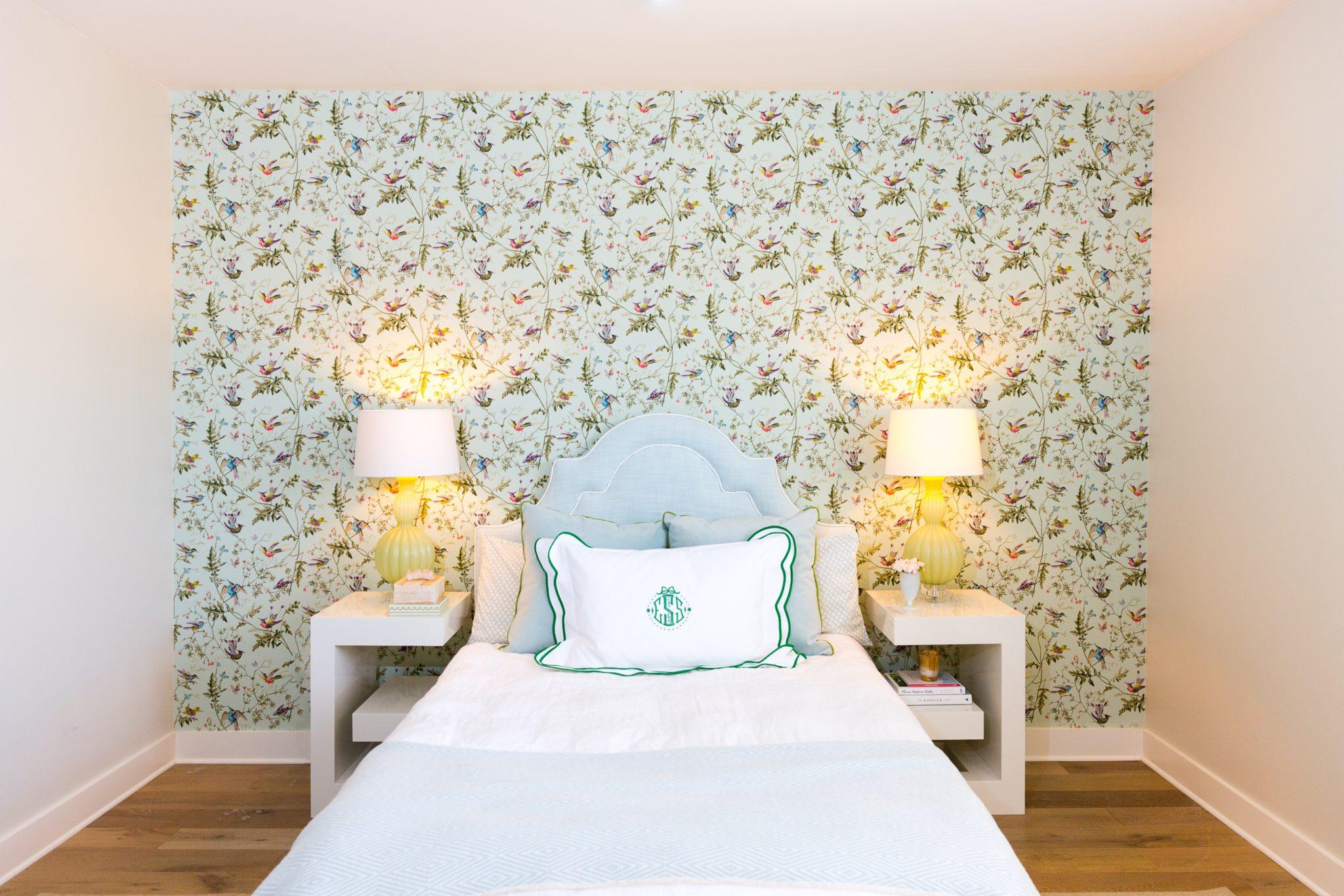 Pastel Feminine Bedroom by Maureen Stevens Design