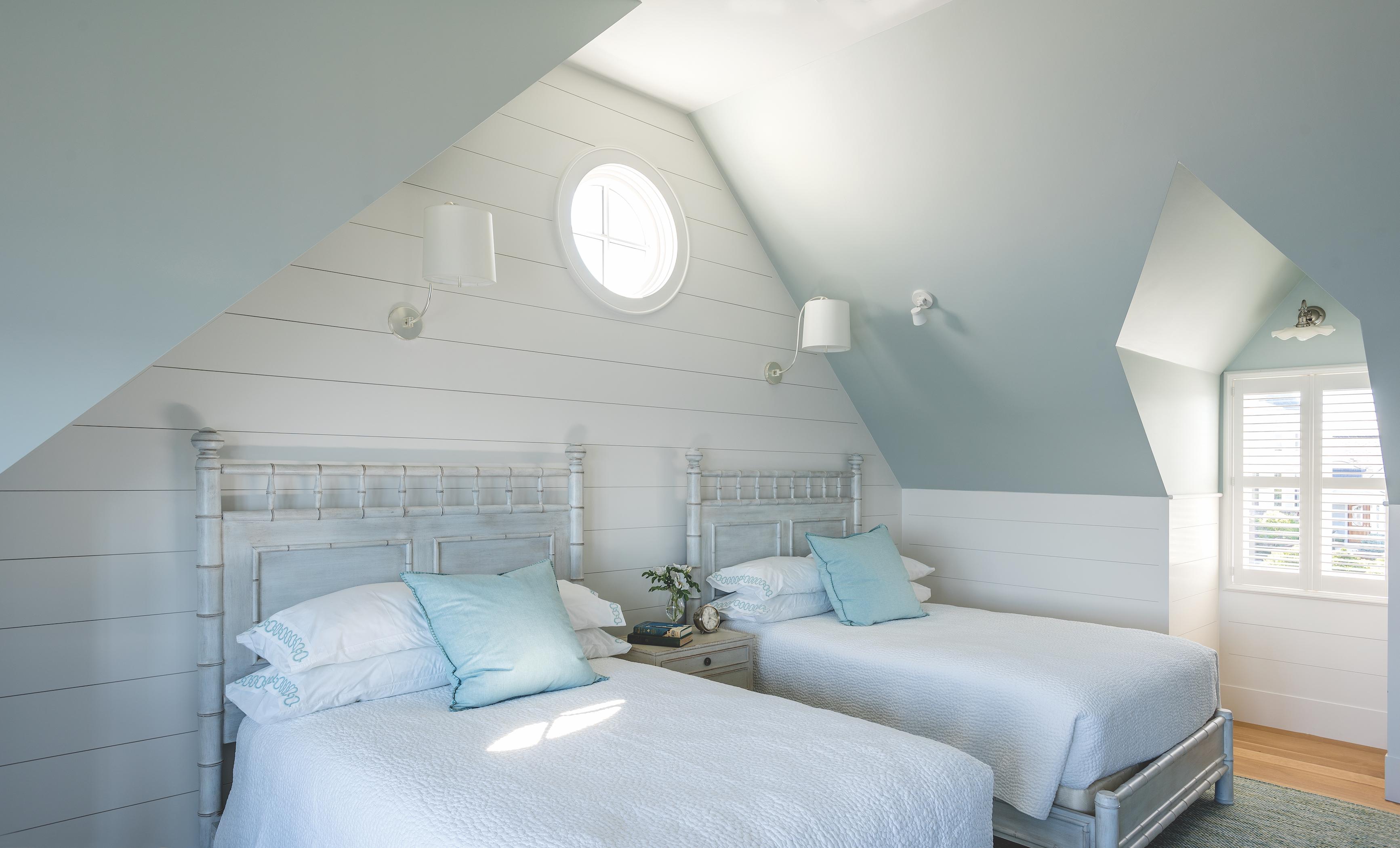 Guest Bedroom at Ship's Channel, Cape Elizabeth, by Banks Design Associates Ltd.