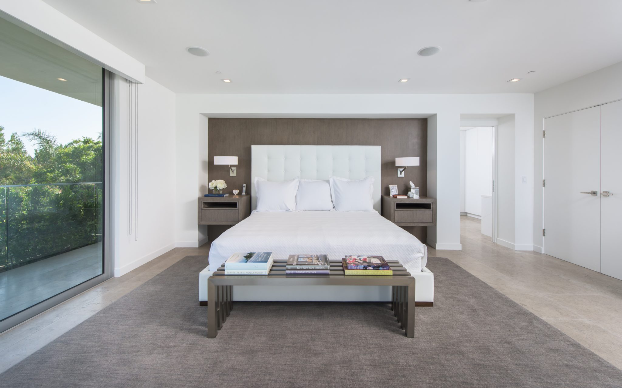 Master Bedroom with built in Bedside Tables by Paul Brant Williger, Architect Inc.