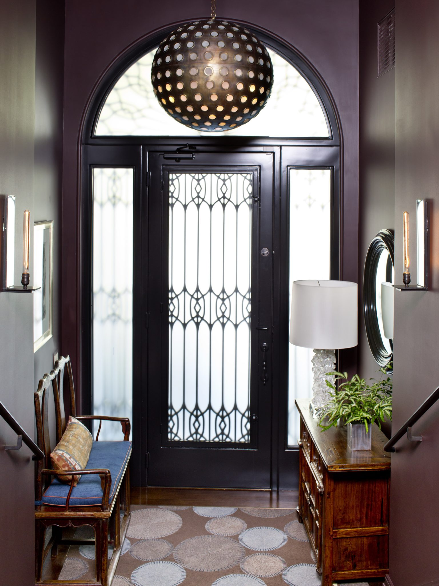 Entry foyer in a New York City maisonette by Glenn Gissler