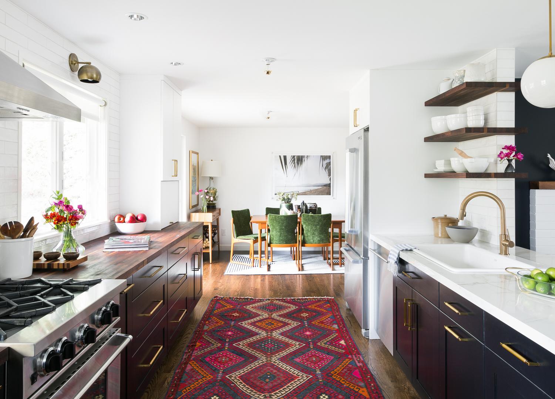 Bellevue mid-century eclectic kitchen by Brio Interior Design