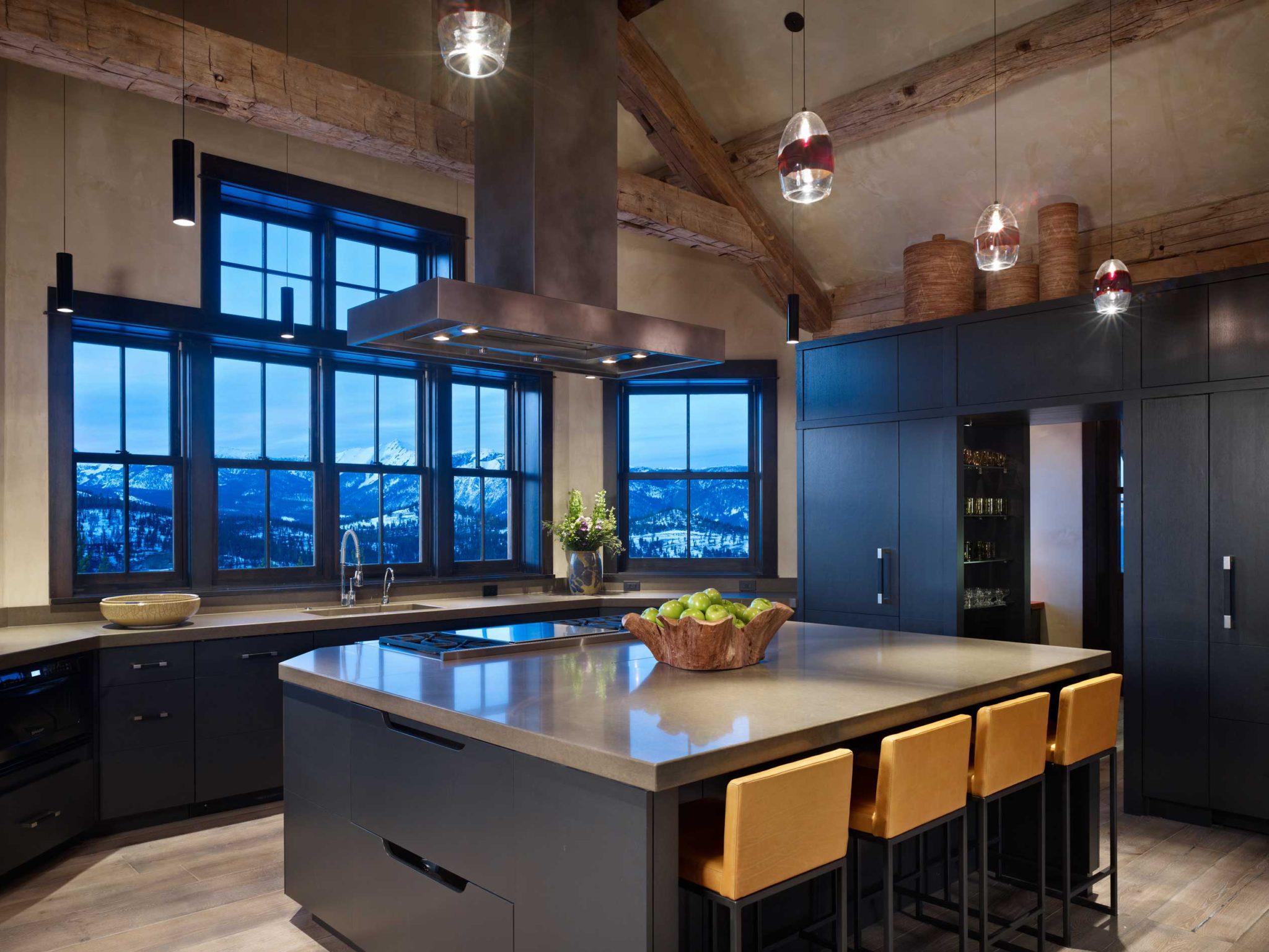 High Alpine Ranch Residence - Yellowstone Club, MT - Kitchen by LKID