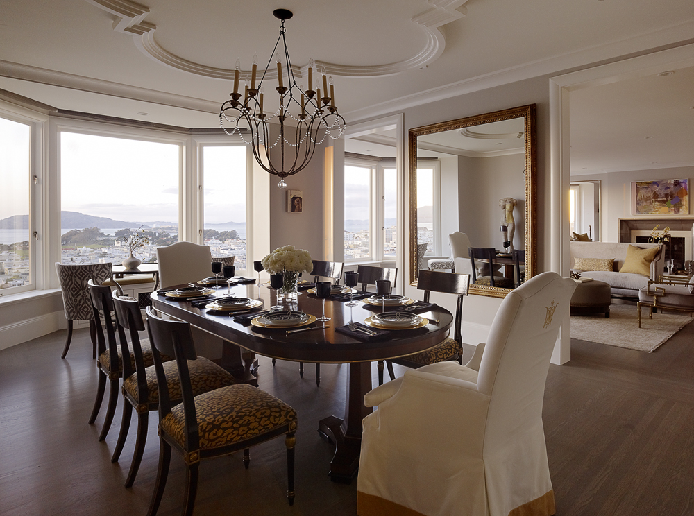 Pacific Heights Dining Room by Candace Cavanaugh Interiors