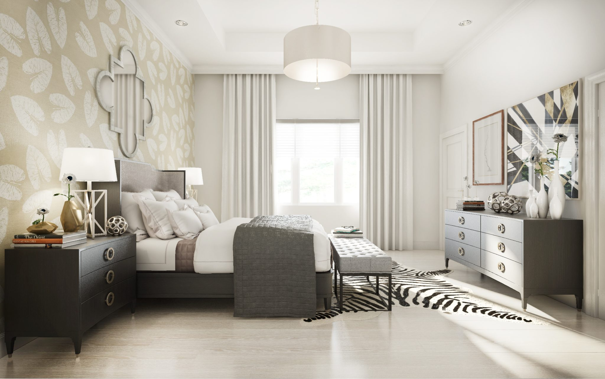 Naples, Florida Residence | Bedroom by Kathy Kuo Designs