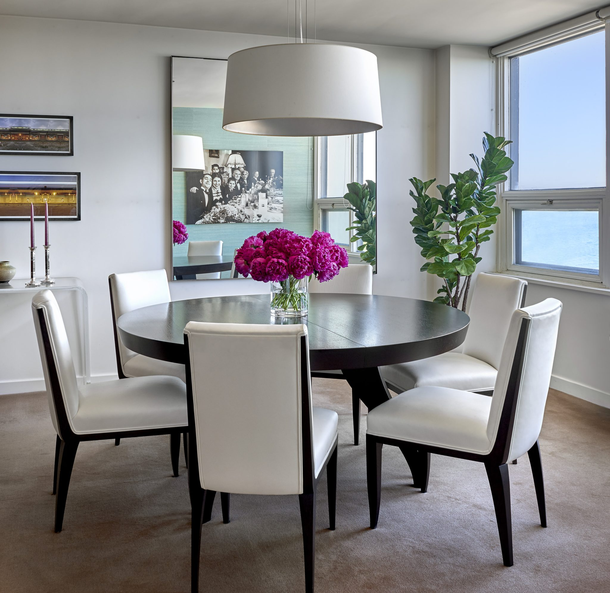 Beachfront Glam - Dining Room by Mitchell Channon Design
