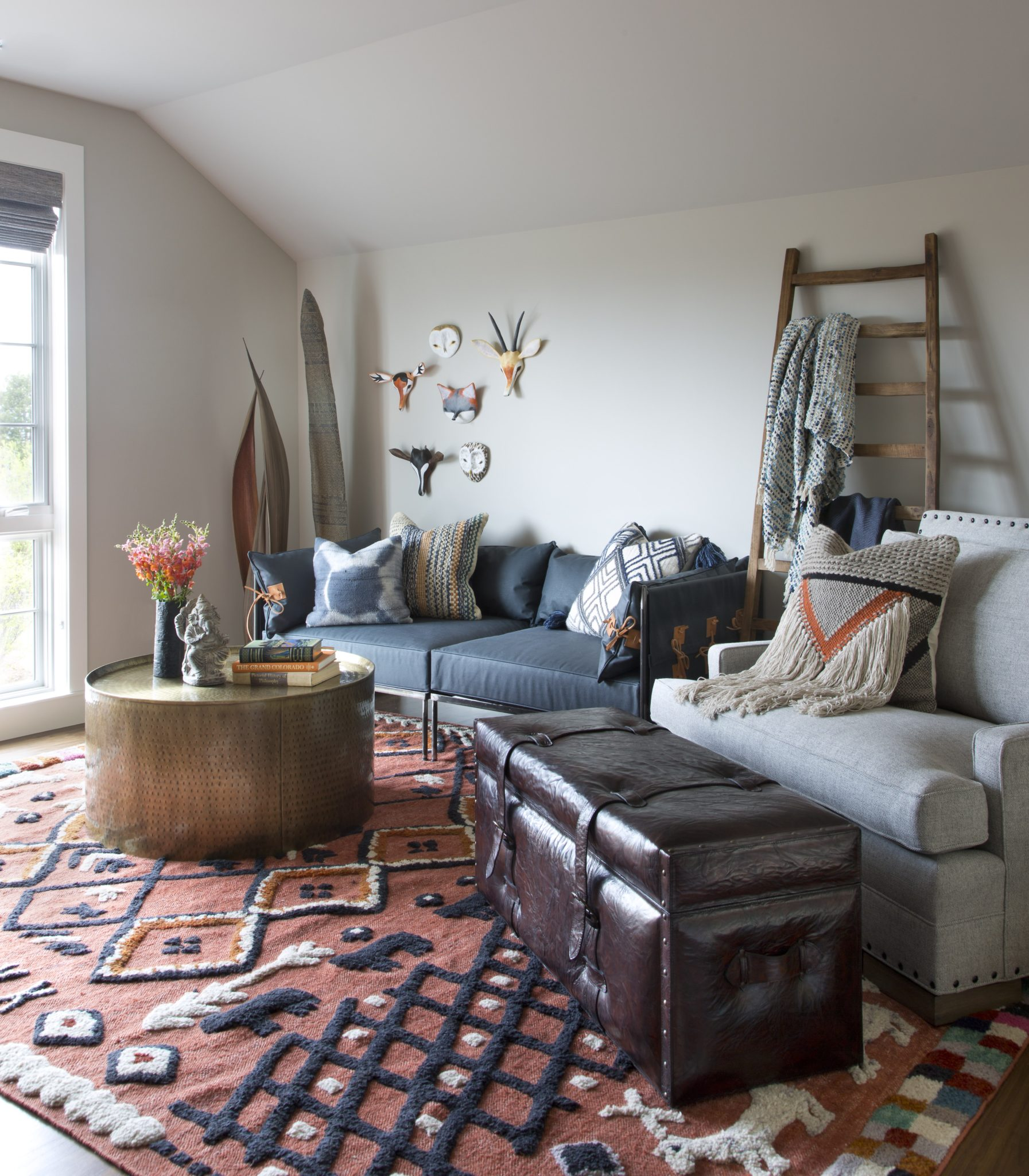 Modern farmhouse retreat - meditation room by Ashley Campbell Interior Design