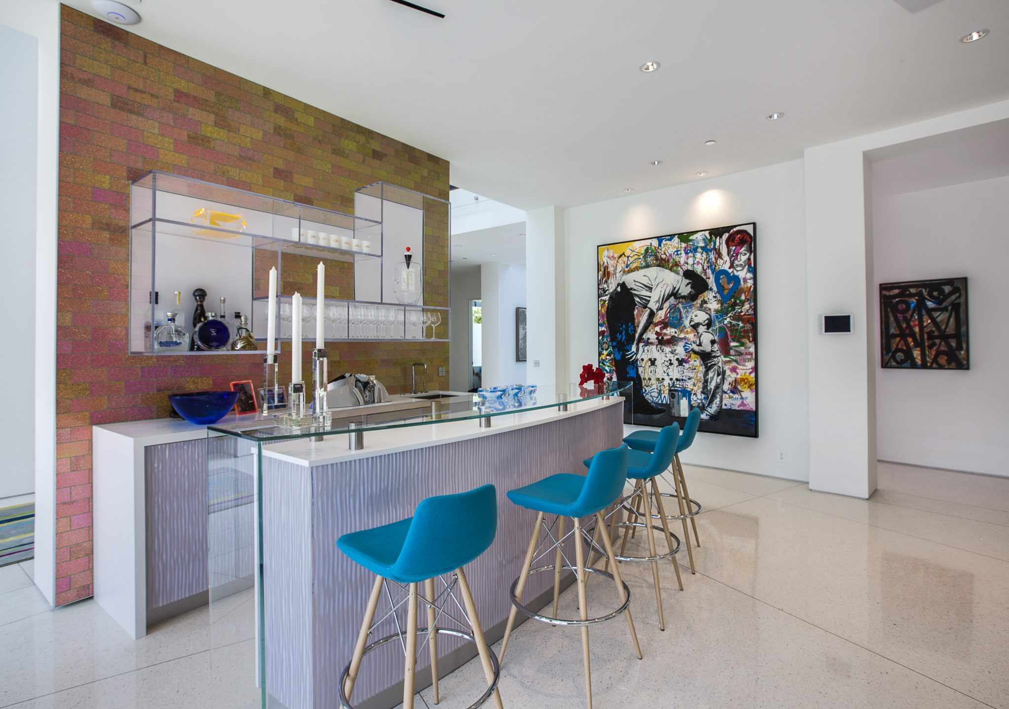 Beverly Hills Family Room Bar by Crespo Design Group